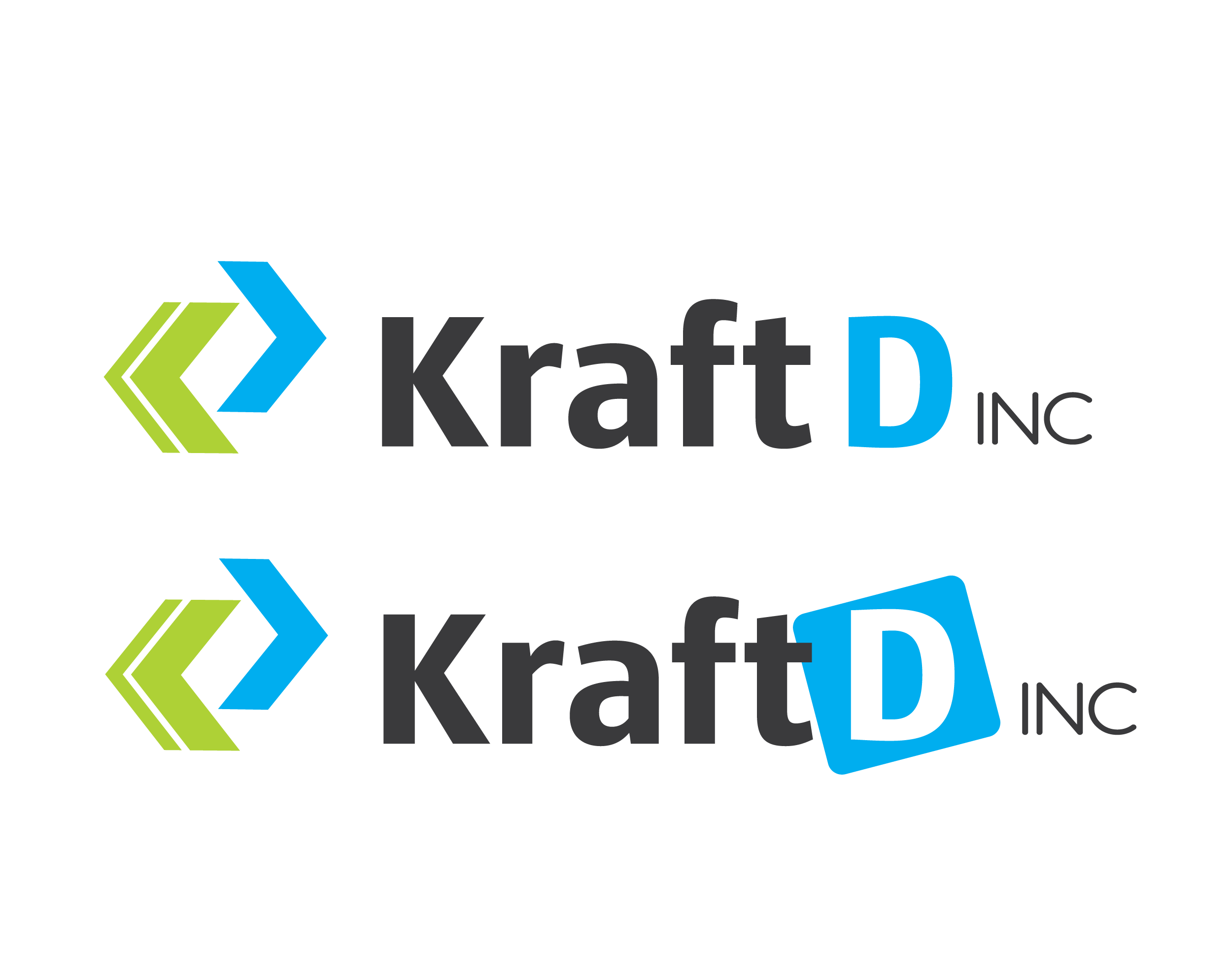 Logo Design by 354studio - Entry No. 418 in the Logo Design Contest Unique Logo Design Wanted for Kraft D Inc.