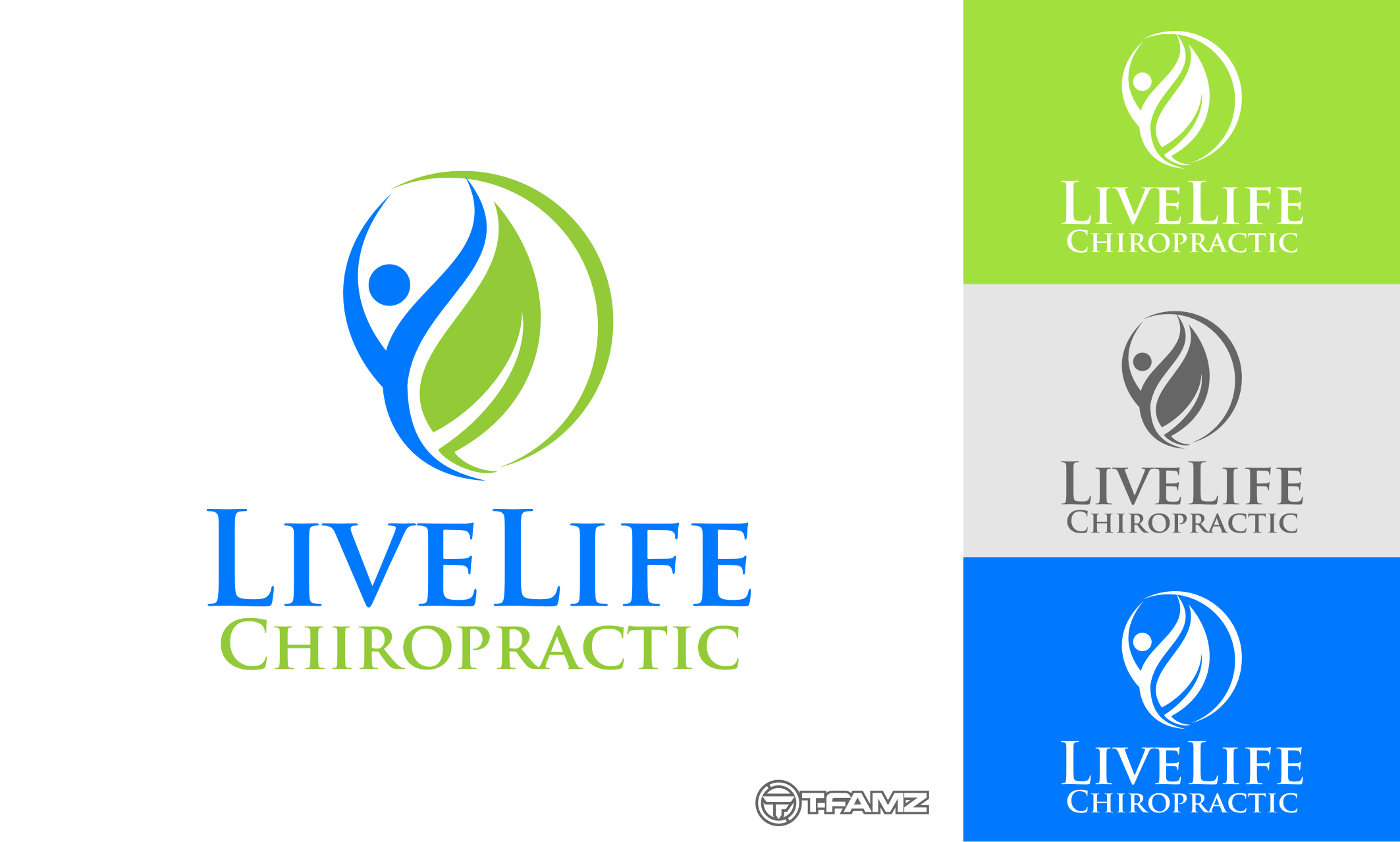 Logo Design by Tille Famz - Entry No. 16 in the Logo Design Contest Captivating Logo Design for LiveLife Chiropractic.