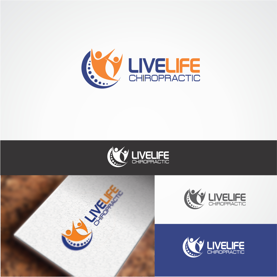 Logo Design by DENOK - Entry No. 17 in the Logo Design Contest Captivating Logo Design for LiveLife Chiropractic.