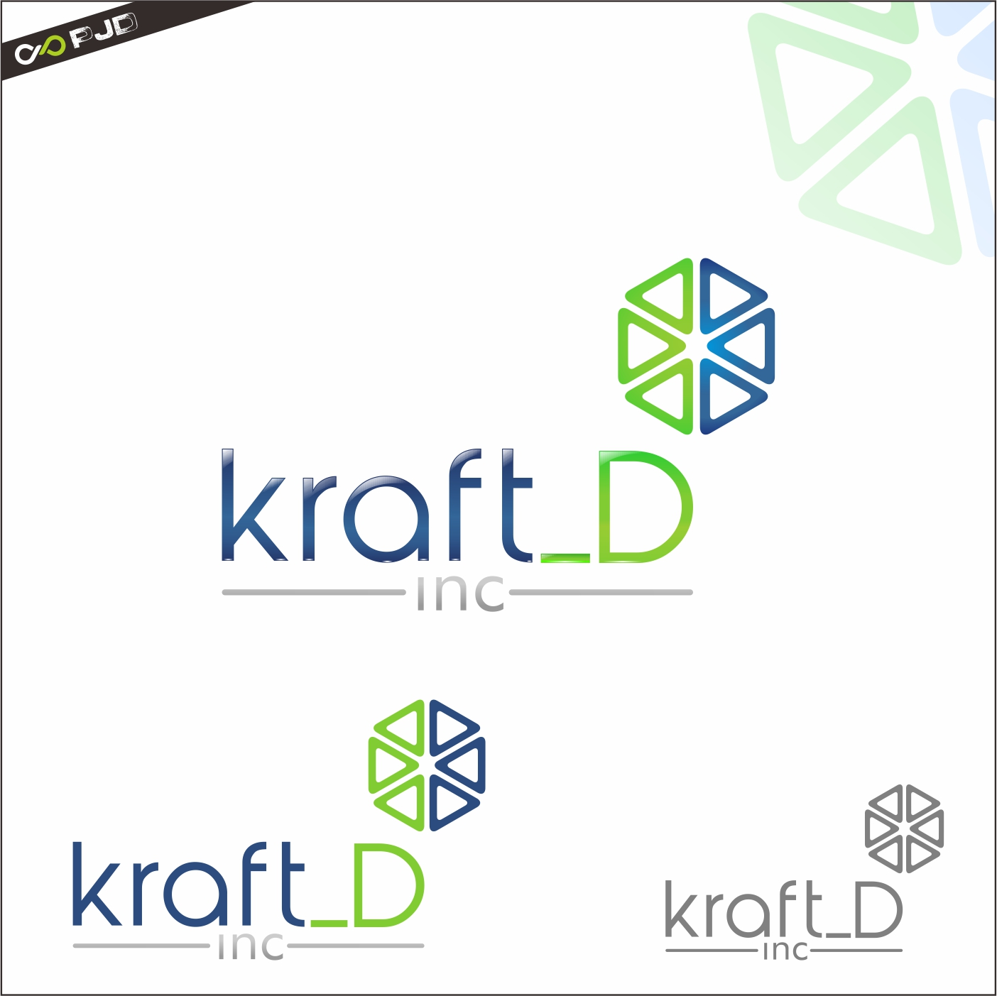 Logo Design by PJD - Entry No. 420 in the Logo Design Contest Unique Logo Design Wanted for Kraft D Inc.