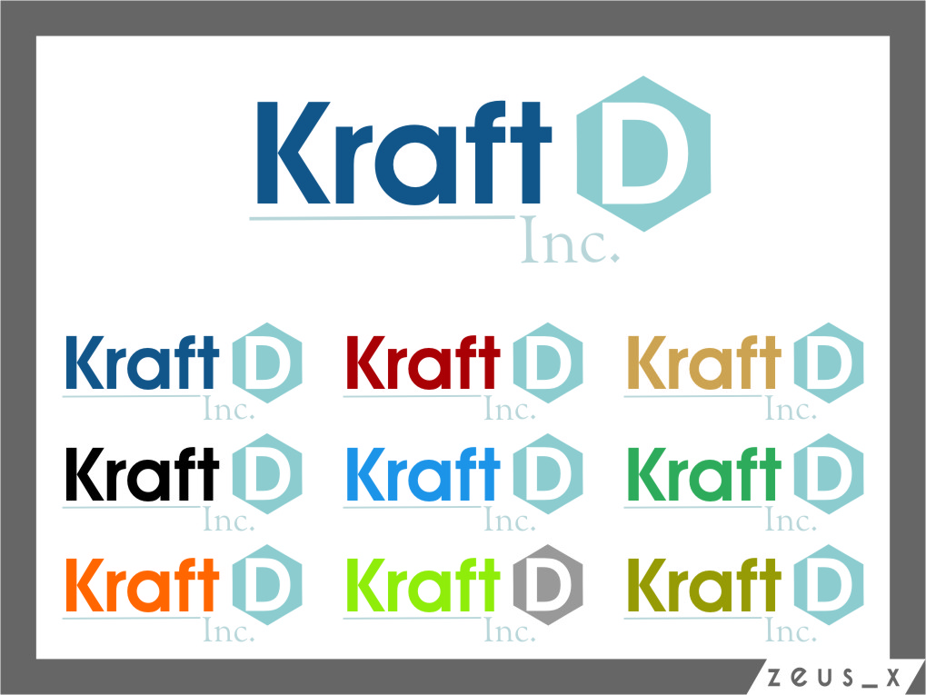 Logo Design by RoSyid Rono-Rene On Java - Entry No. 428 in the Logo Design Contest Unique Logo Design Wanted for Kraft D Inc.