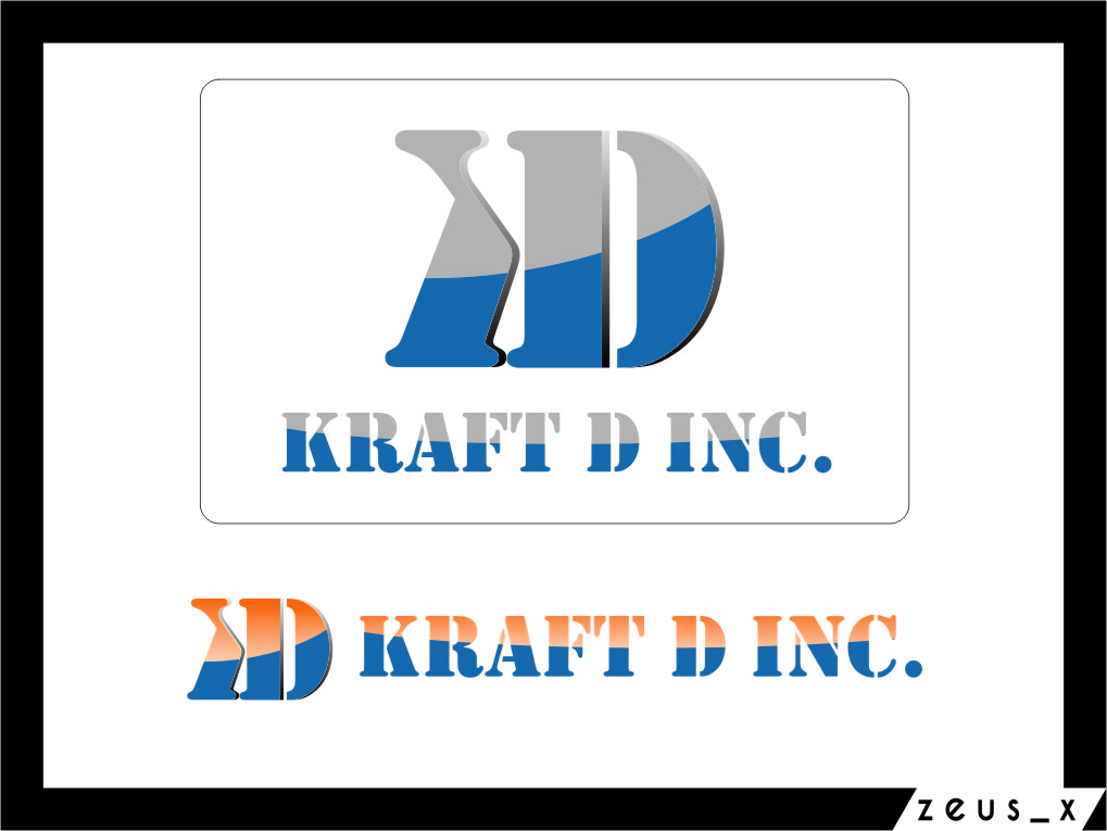 Logo Design by Ngepet_art - Entry No. 444 in the Logo Design Contest Unique Logo Design Wanted for Kraft D Inc.