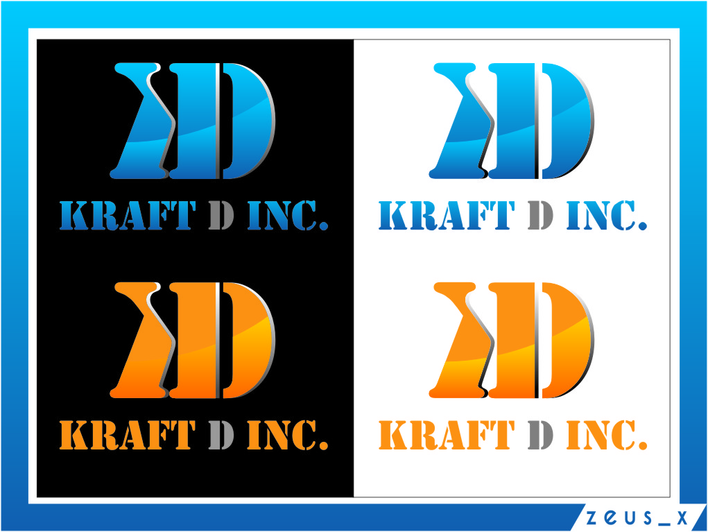 Logo Design by Ngepet_art - Entry No. 445 in the Logo Design Contest Unique Logo Design Wanted for Kraft D Inc.