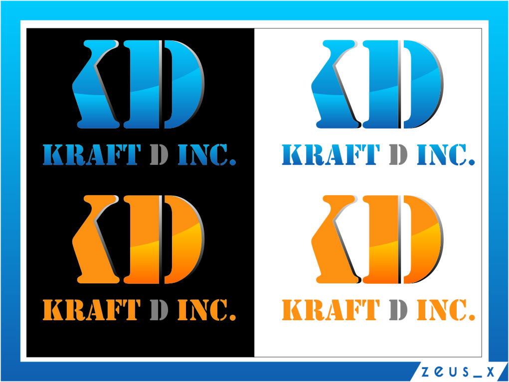 Logo Design by RasYa Muhammad Athaya - Entry No. 446 in the Logo Design Contest Unique Logo Design Wanted for Kraft D Inc.