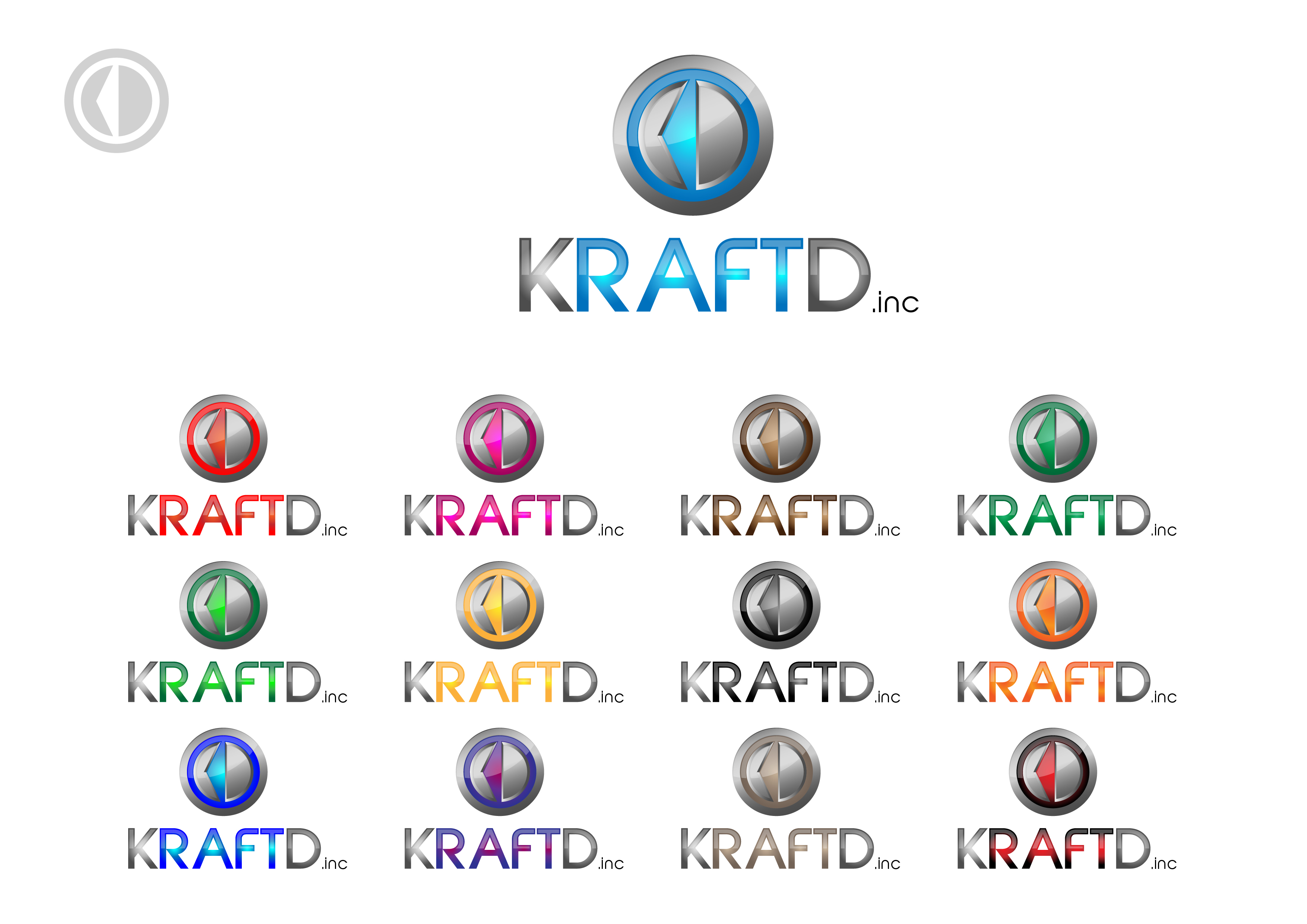 Logo Design by 3draw - Entry No. 451 in the Logo Design Contest Unique Logo Design Wanted for Kraft D Inc.