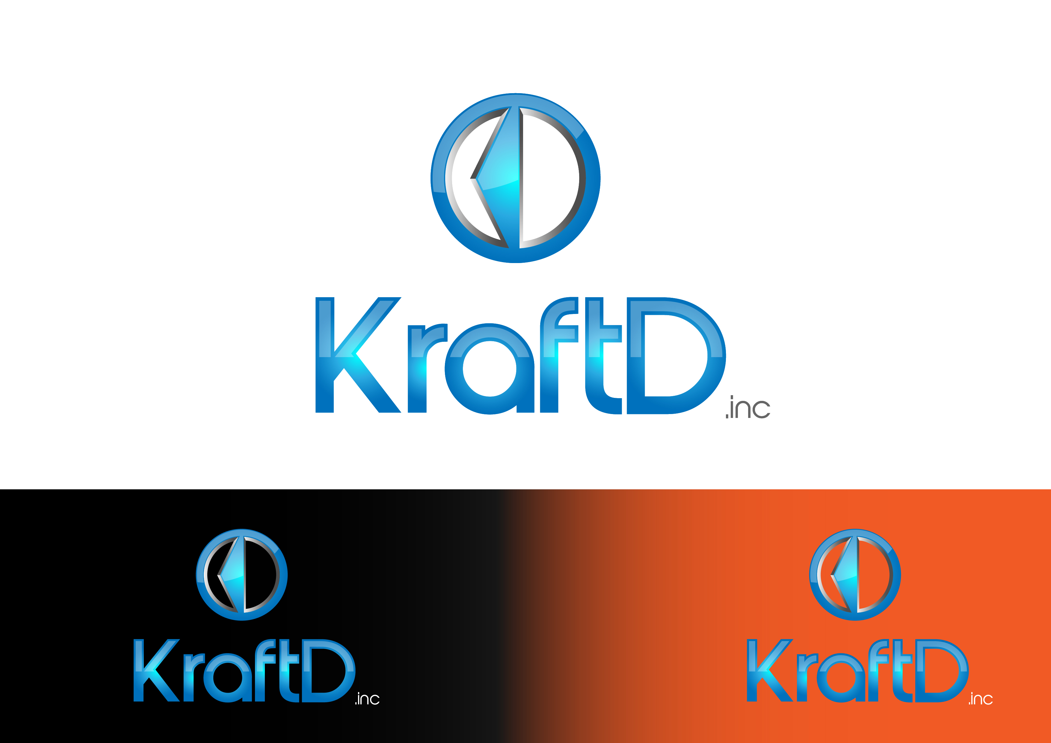Logo Design by 3draw - Entry No. 455 in the Logo Design Contest Unique Logo Design Wanted for Kraft D Inc.