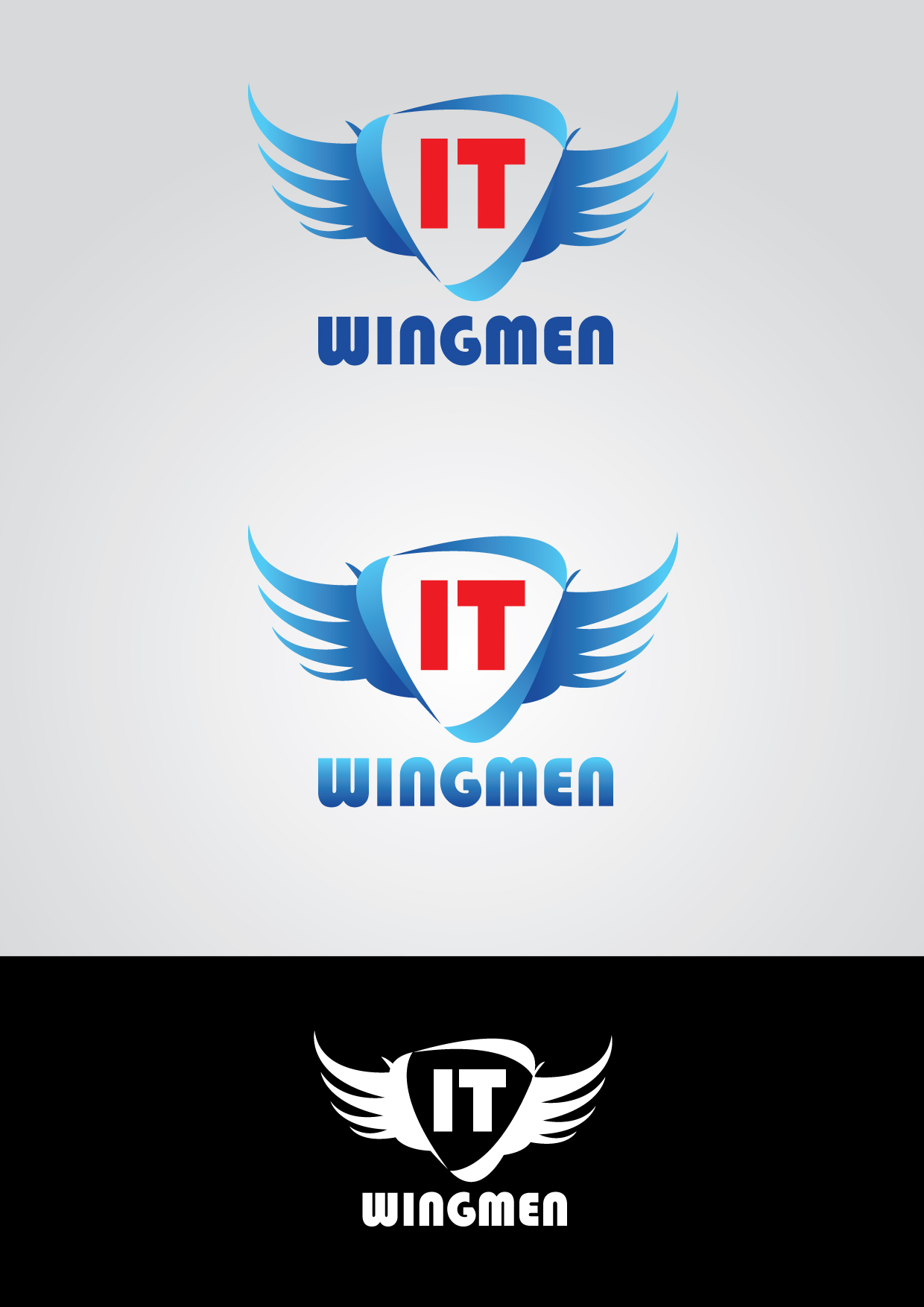 Logo Design by mediaproductionart - Entry No. 48 in the Logo Design Contest New Logo Design for IT Wingmen.