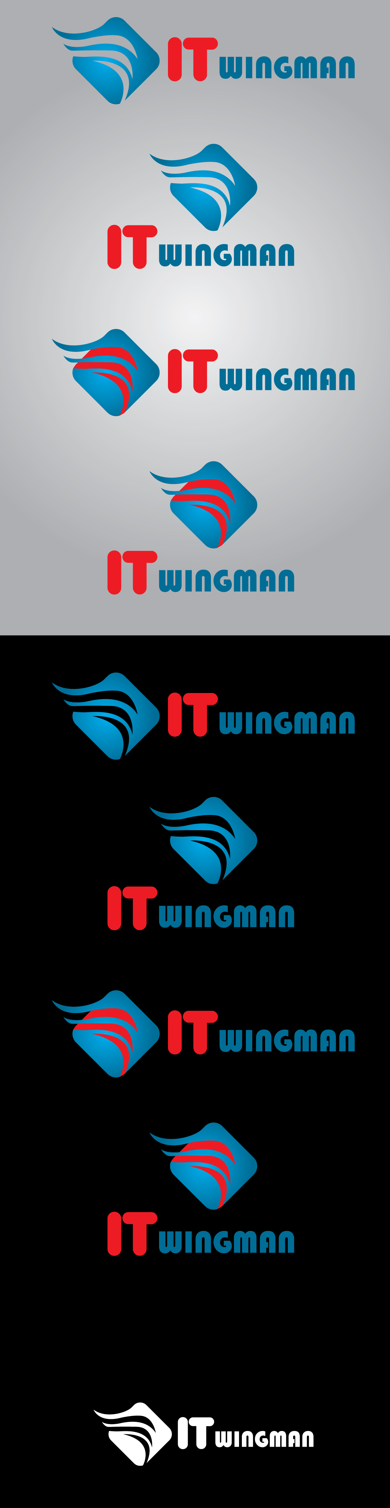 Logo Design by mediaproductionart - Entry No. 50 in the Logo Design Contest New Logo Design for IT Wingmen.