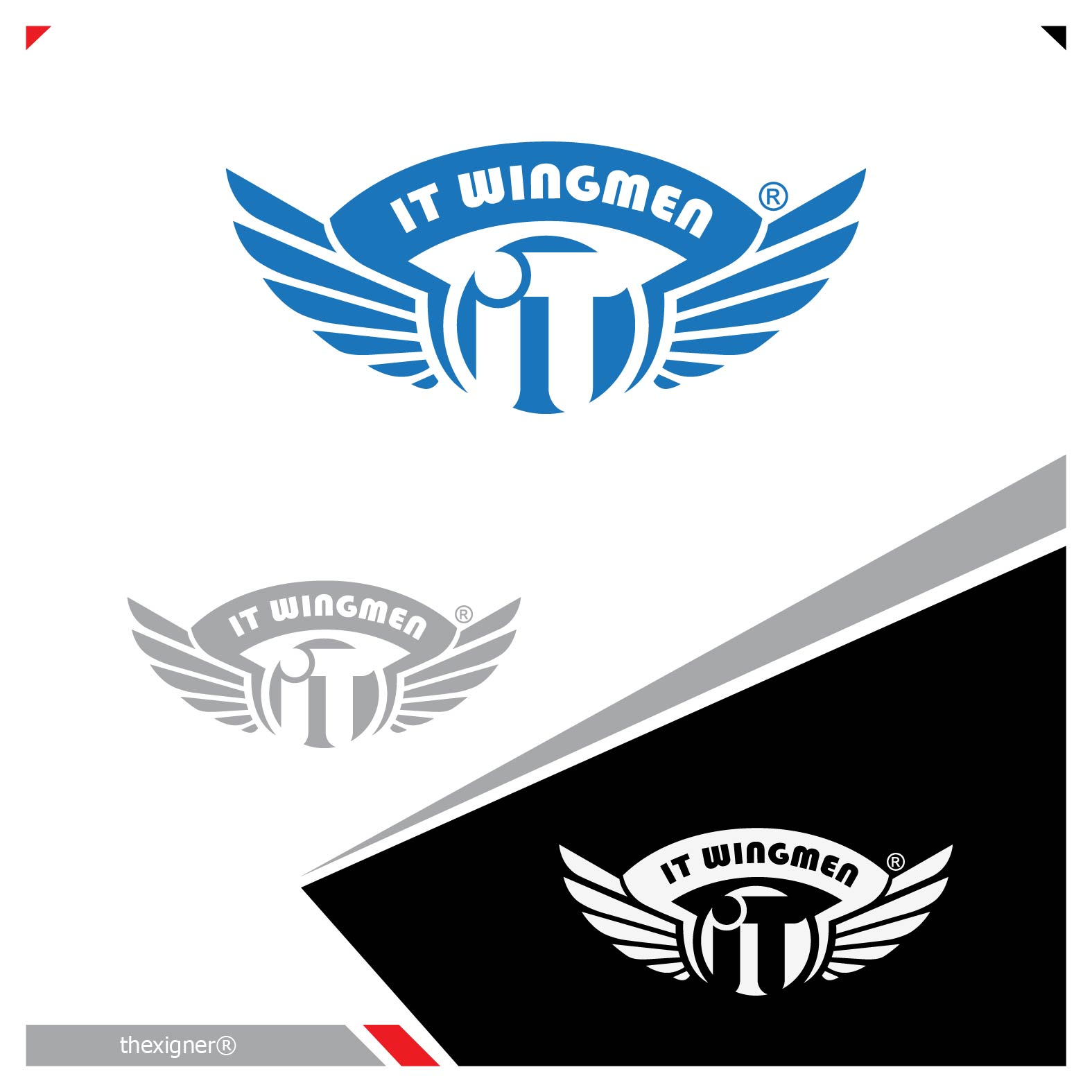 Logo Design by lagalag - Entry No. 51 in the Logo Design Contest New Logo Design for IT Wingmen.