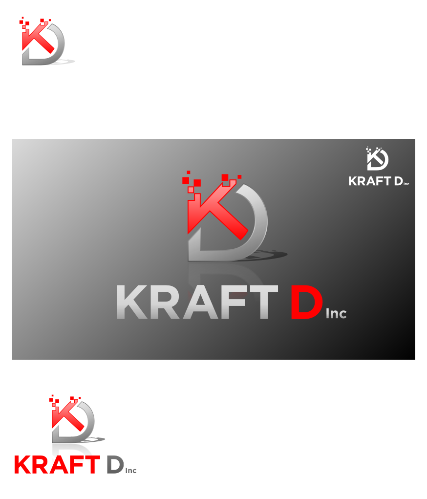 Logo Design by Muhammad Nasrul chasib - Entry No. 483 in the Logo Design Contest Unique Logo Design Wanted for Kraft D Inc.