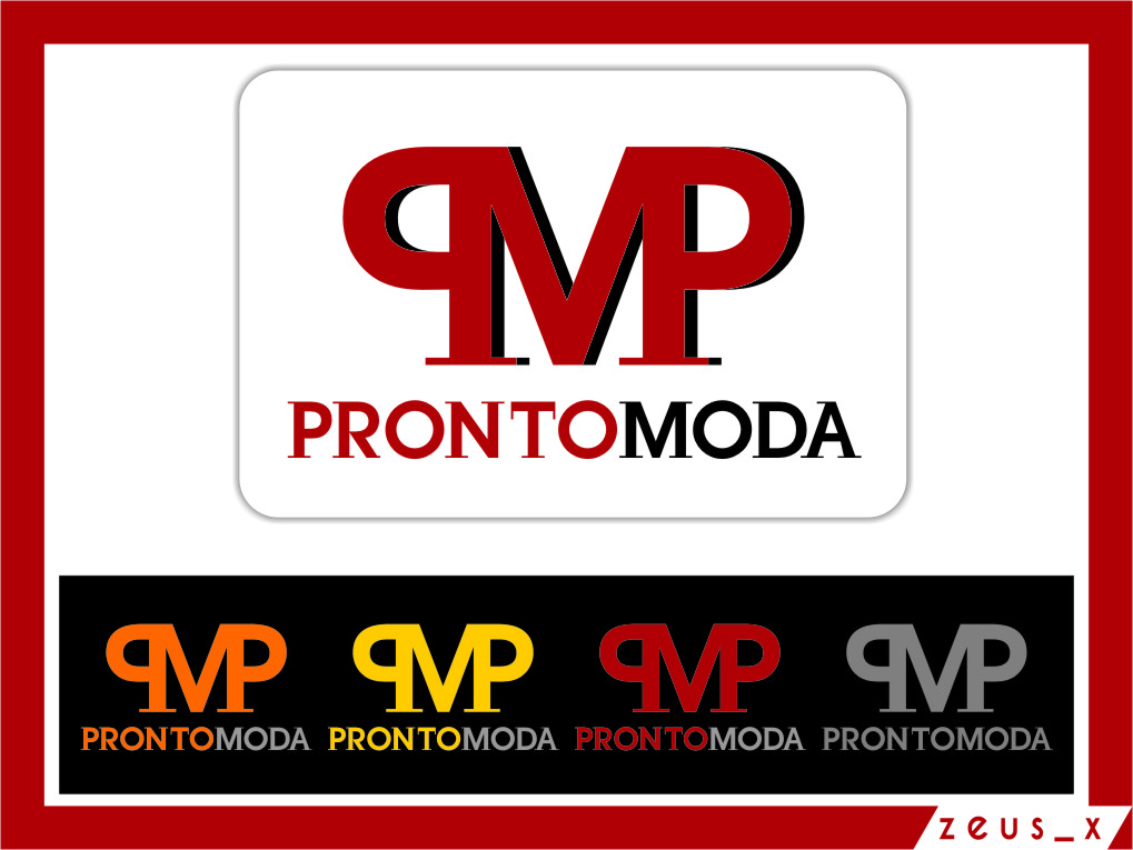 Logo Design by Ngepet_art - Entry No. 52 in the Logo Design Contest Captivating Logo Design for Pronto moda.