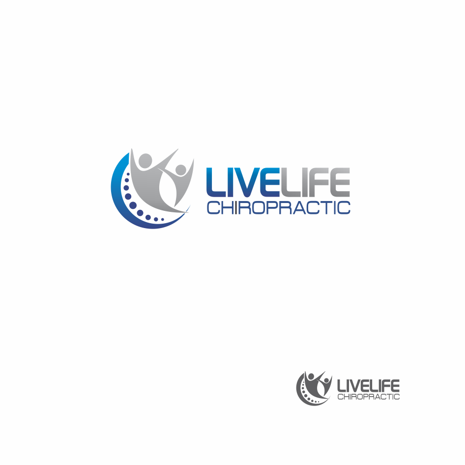 Logo Design by DENOK - Entry No. 27 in the Logo Design Contest Captivating Logo Design for LiveLife Chiropractic.