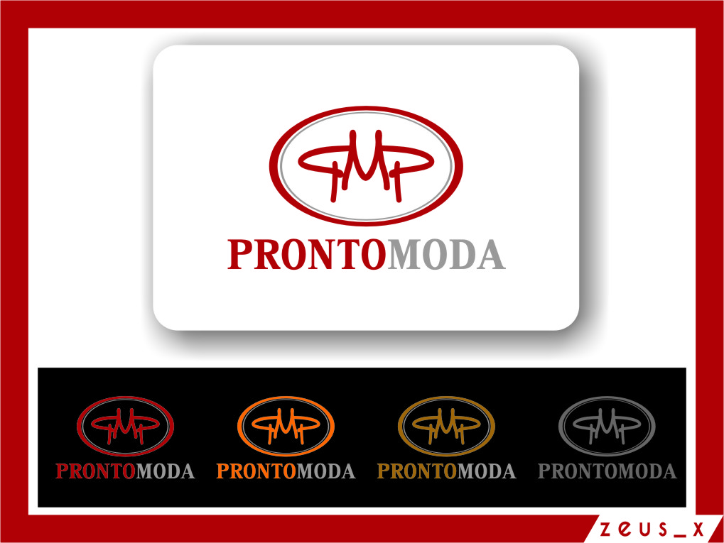 Logo Design by Ngepet_art - Entry No. 58 in the Logo Design Contest Captivating Logo Design for Pronto moda.