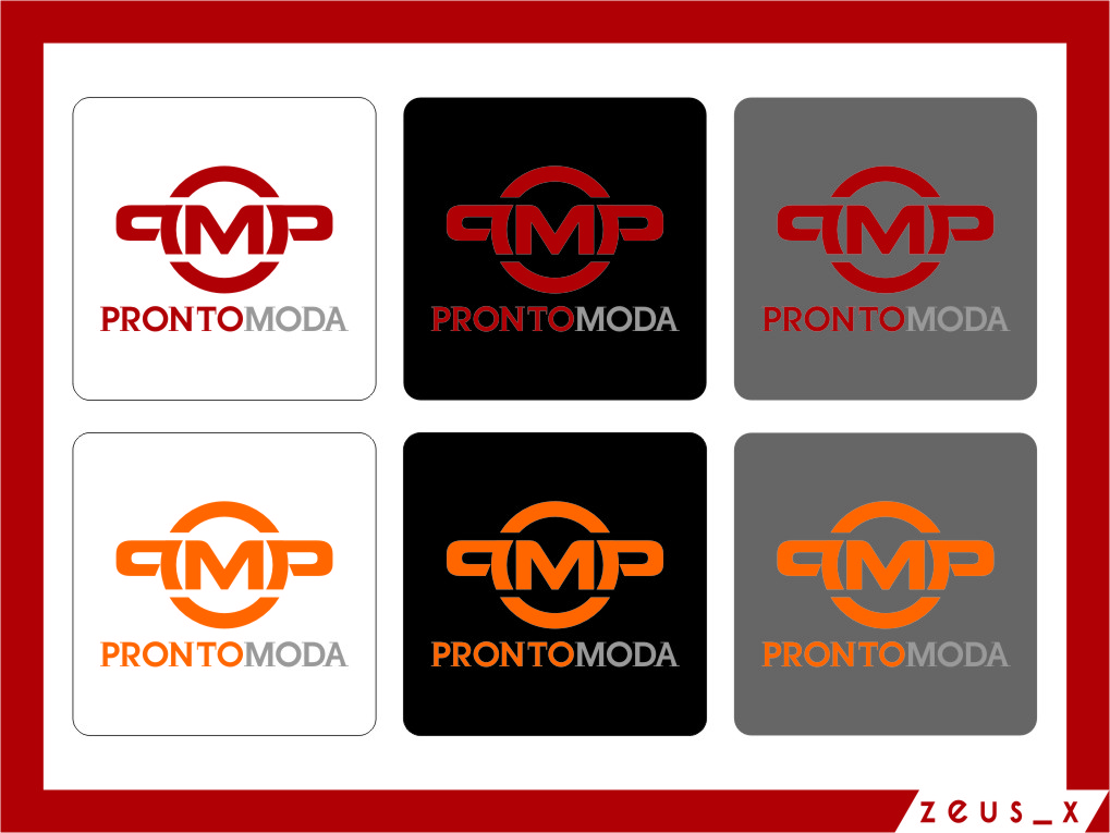 Logo Design by RasYa Muhammad Athaya - Entry No. 59 in the Logo Design Contest Captivating Logo Design for Pronto moda.