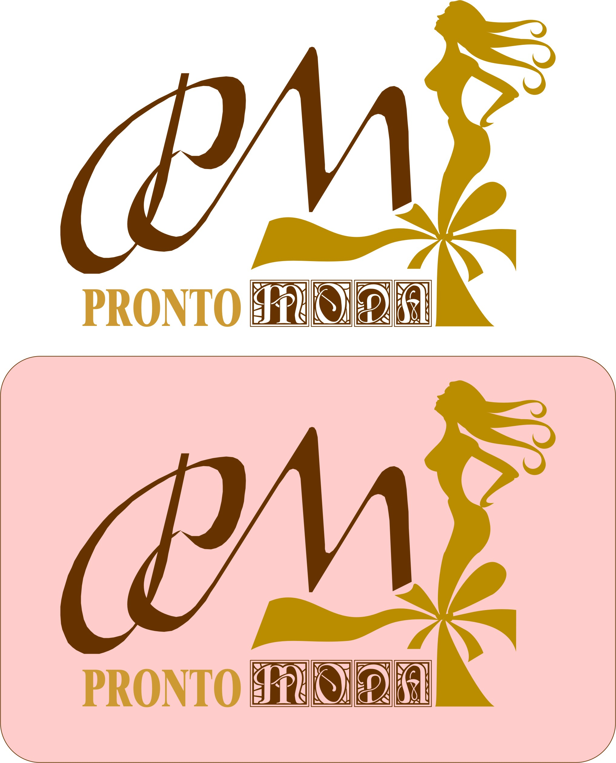Logo Design by Korsunov Oleg - Entry No. 60 in the Logo Design Contest Captivating Logo Design for Pronto moda.