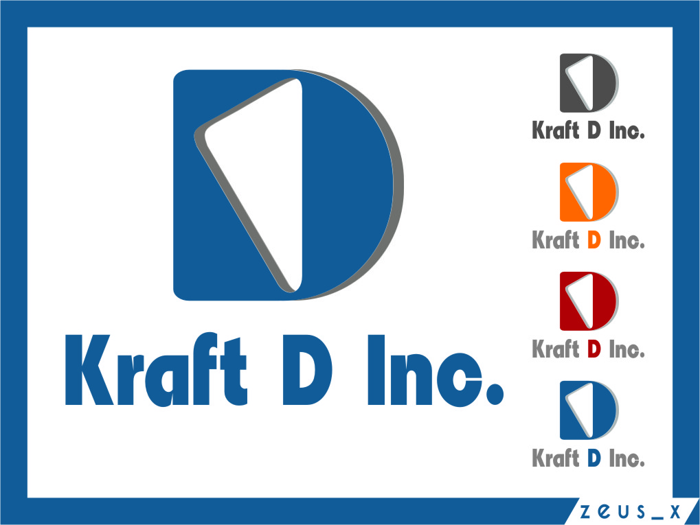 Logo Design by RasYa Muhammad Athaya - Entry No. 487 in the Logo Design Contest Unique Logo Design Wanted for Kraft D Inc.