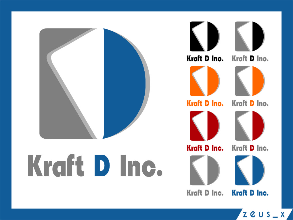 Logo Design by RasYa Muhammad Athaya - Entry No. 488 in the Logo Design Contest Unique Logo Design Wanted for Kraft D Inc.