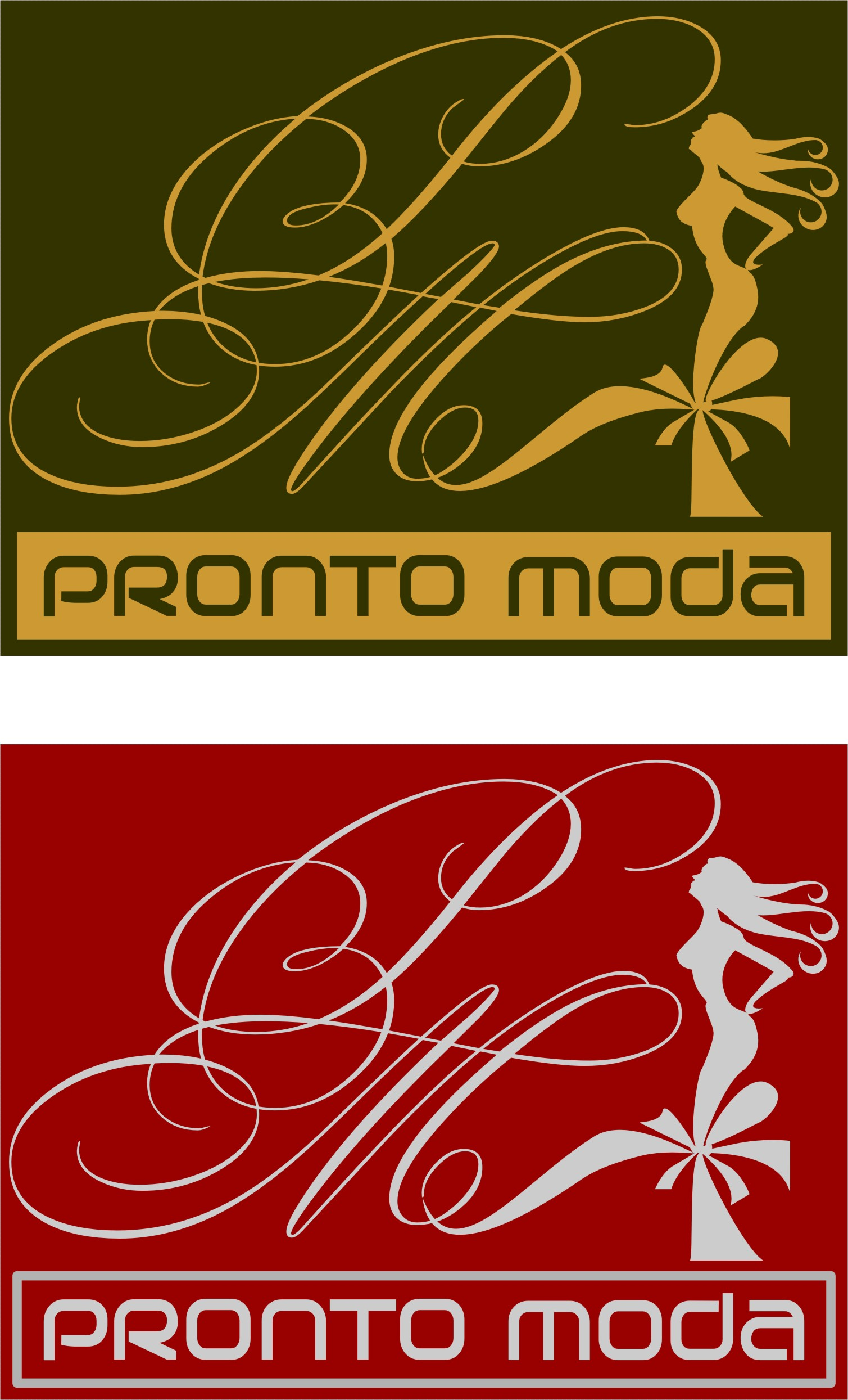 Logo Design by Korsunov Oleg - Entry No. 62 in the Logo Design Contest Captivating Logo Design for Pronto moda.