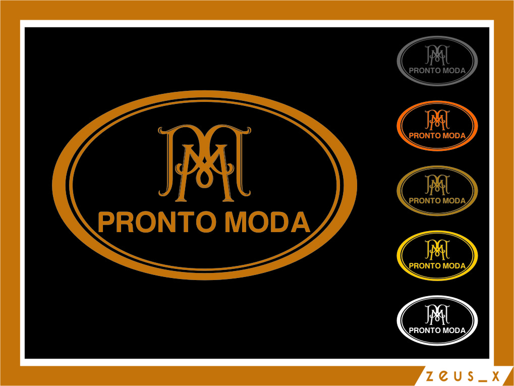 Logo Design by Ngepet_art - Entry No. 63 in the Logo Design Contest Captivating Logo Design for Pronto moda.
