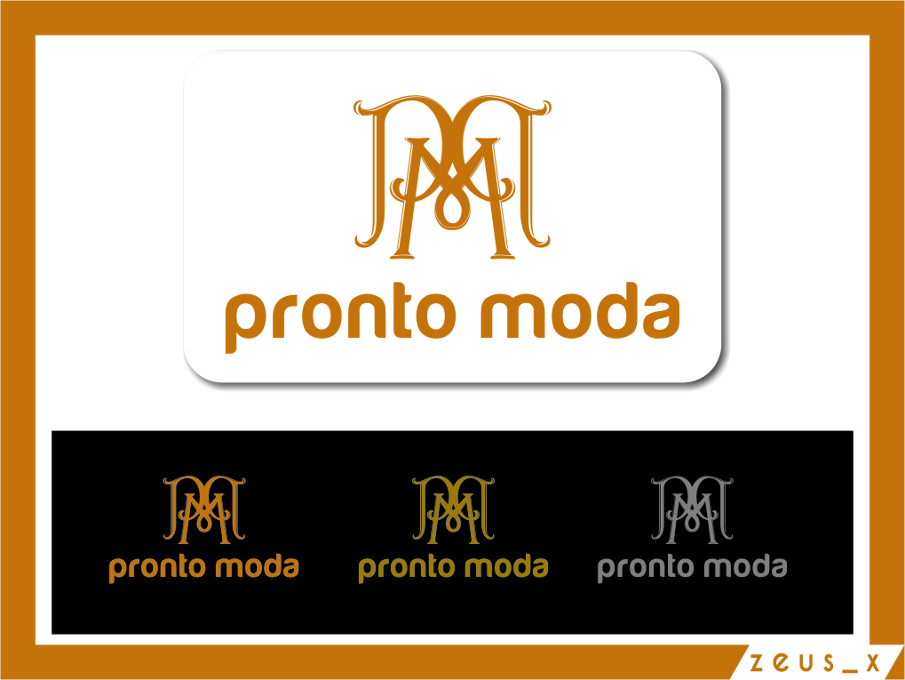 Logo Design by RoSyid Rono-Rene On Java - Entry No. 64 in the Logo Design Contest Captivating Logo Design for Pronto moda.