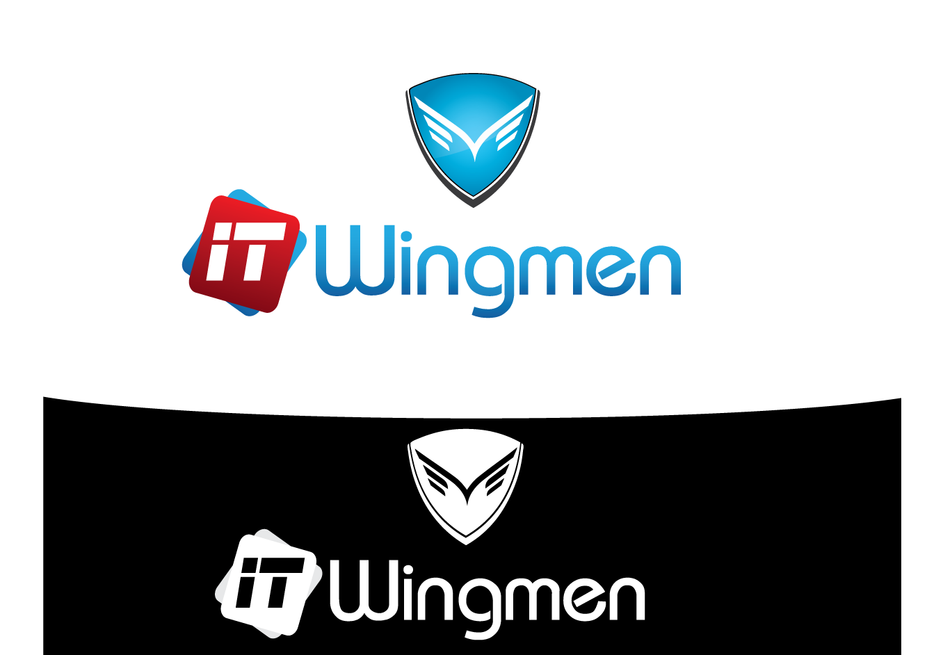 Logo Design by 354studio - Entry No. 63 in the Logo Design Contest New Logo Design for IT Wingmen.