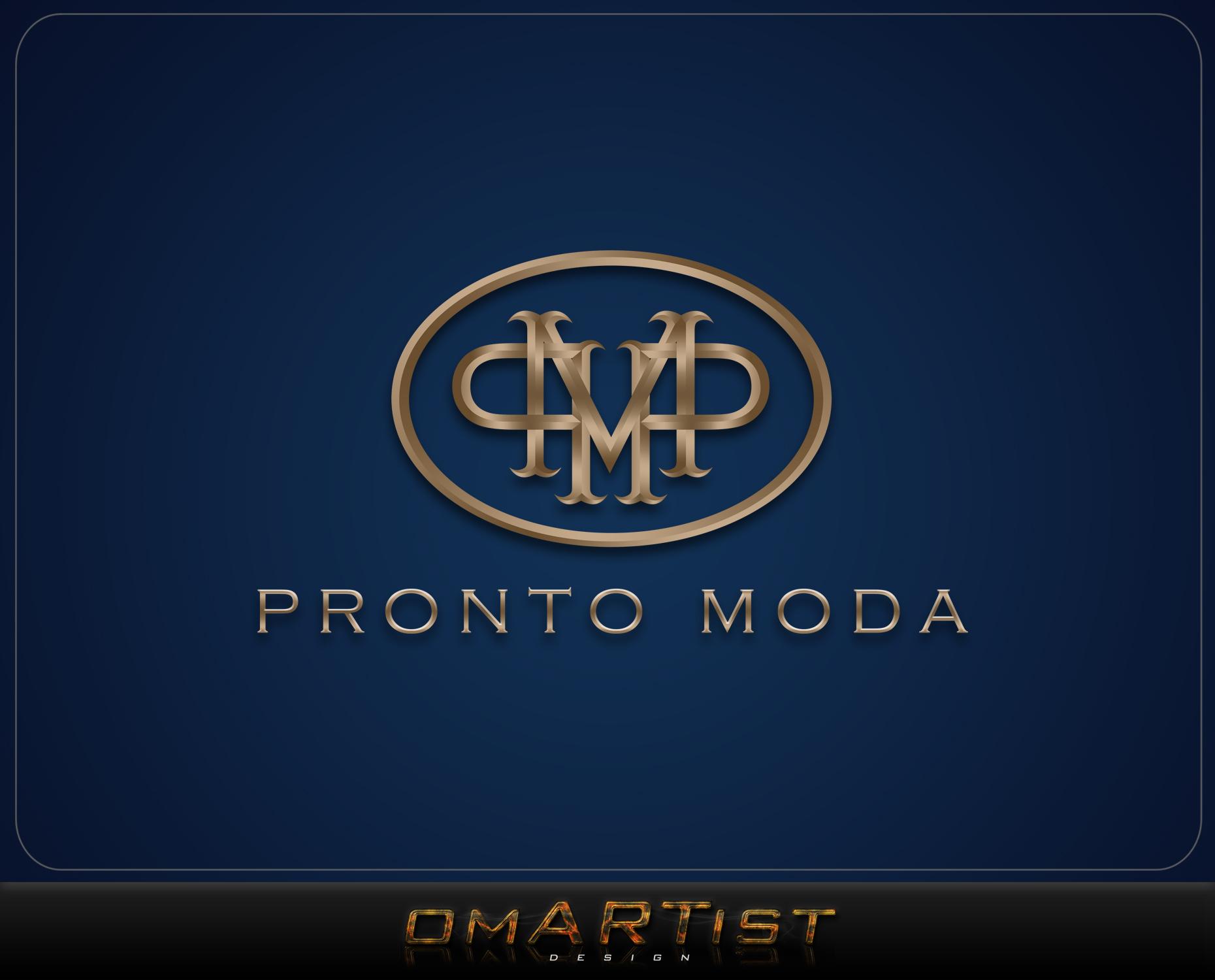 Logo Design by omARTist - Entry No. 65 in the Logo Design Contest Captivating Logo Design for Pronto moda.