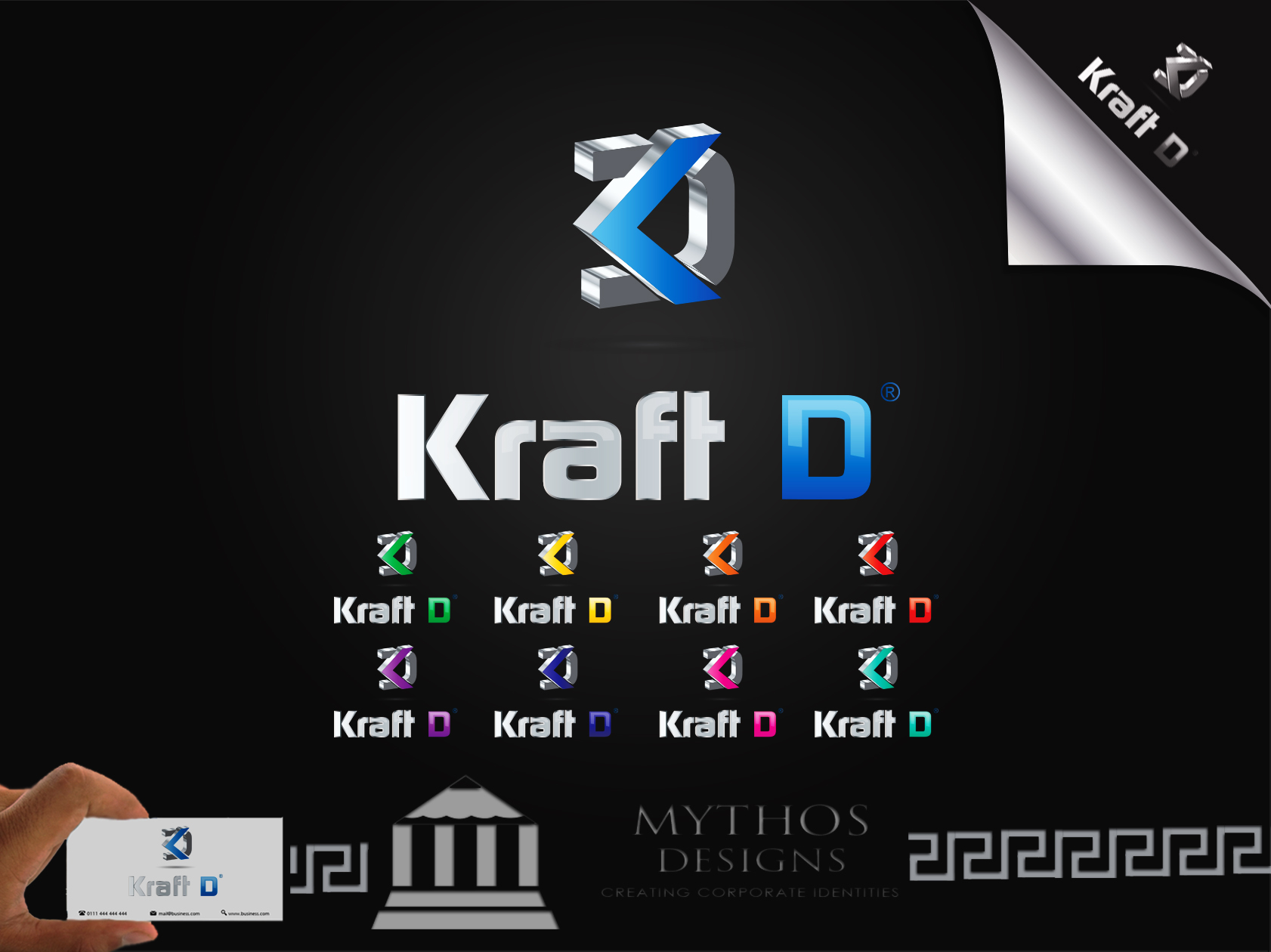 Logo Design by Mythos Designs - Entry No. 497 in the Logo Design Contest Unique Logo Design Wanted for Kraft D Inc.