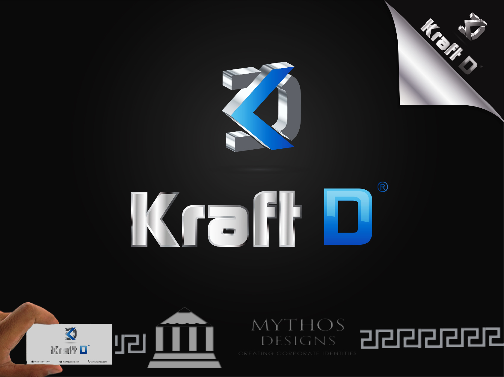 Logo Design by Mythos Designs - Entry No. 498 in the Logo Design Contest Unique Logo Design Wanted for Kraft D Inc.