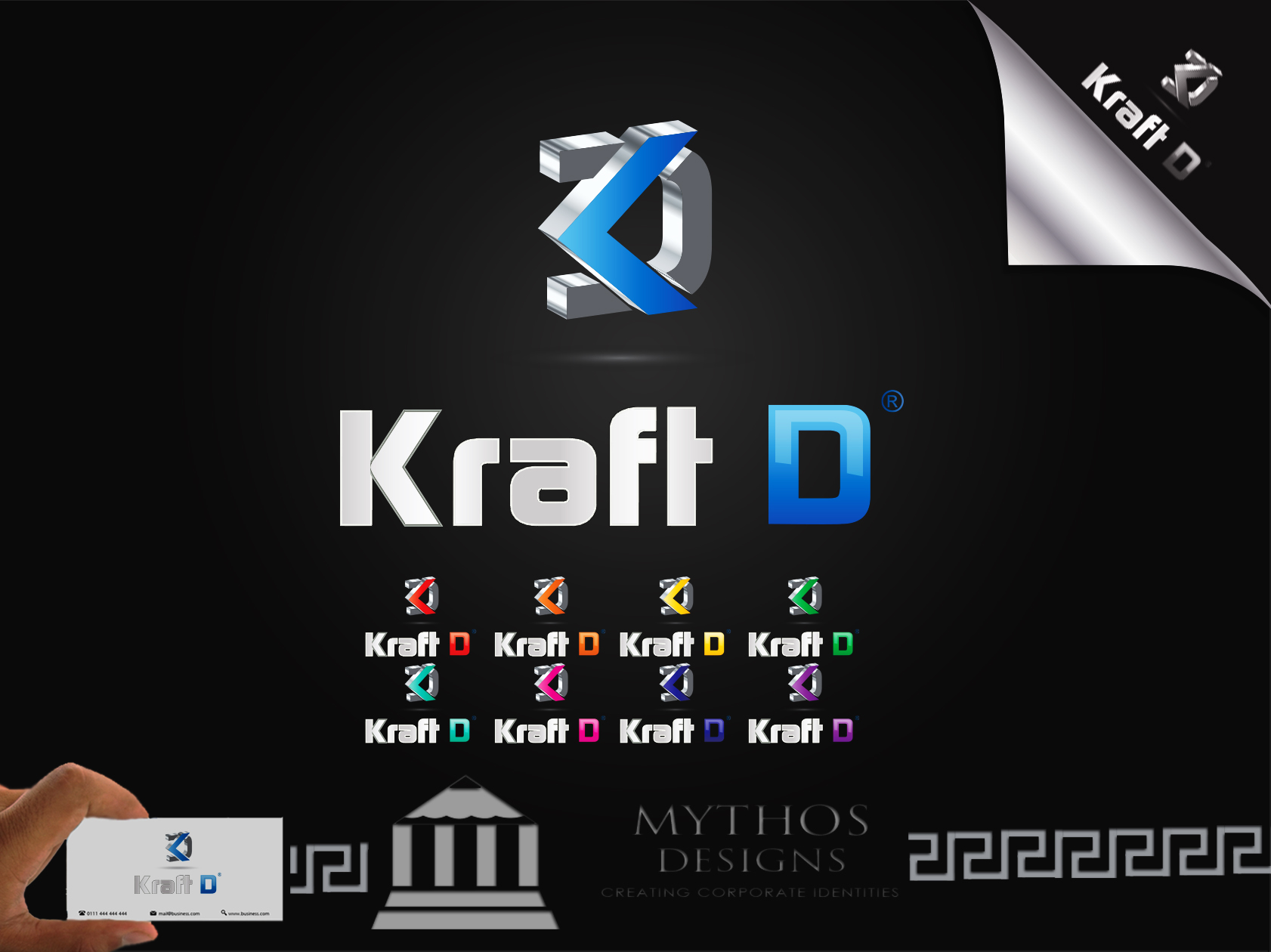 Logo Design by Mythos Designs - Entry No. 499 in the Logo Design Contest Unique Logo Design Wanted for Kraft D Inc.