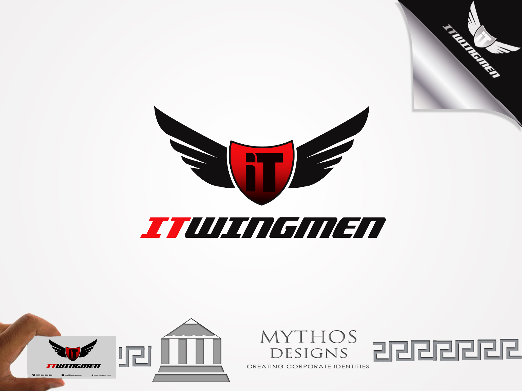 Logo Design by Mythos Designs - Entry No. 65 in the Logo Design Contest New Logo Design for IT Wingmen.