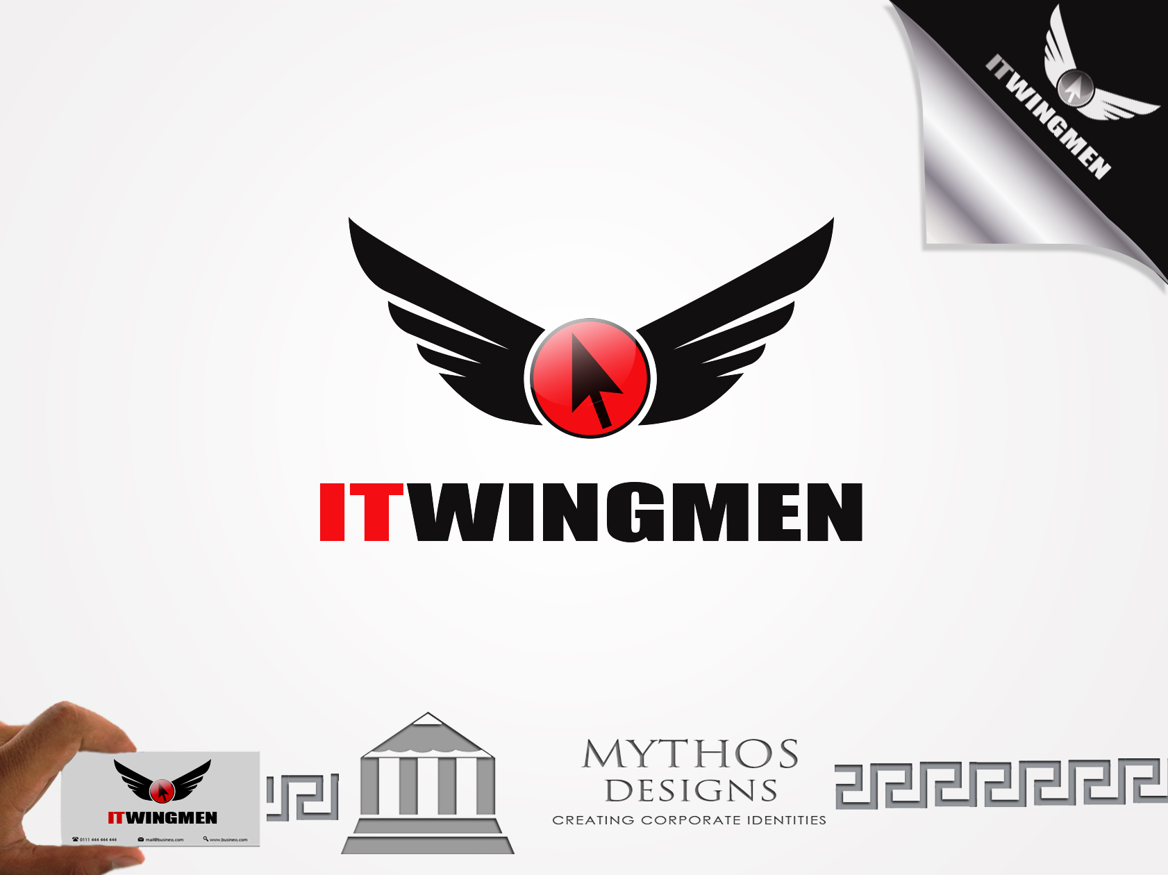 Logo Design by Mythos Designs - Entry No. 66 in the Logo Design Contest New Logo Design for IT Wingmen.