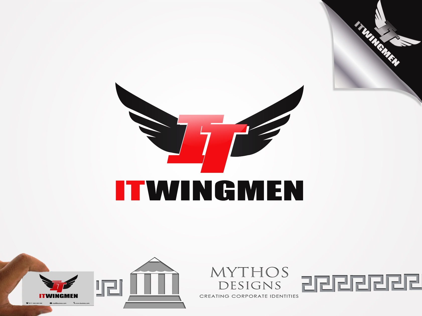 Logo Design by Mythos Designs - Entry No. 67 in the Logo Design Contest New Logo Design for IT Wingmen.