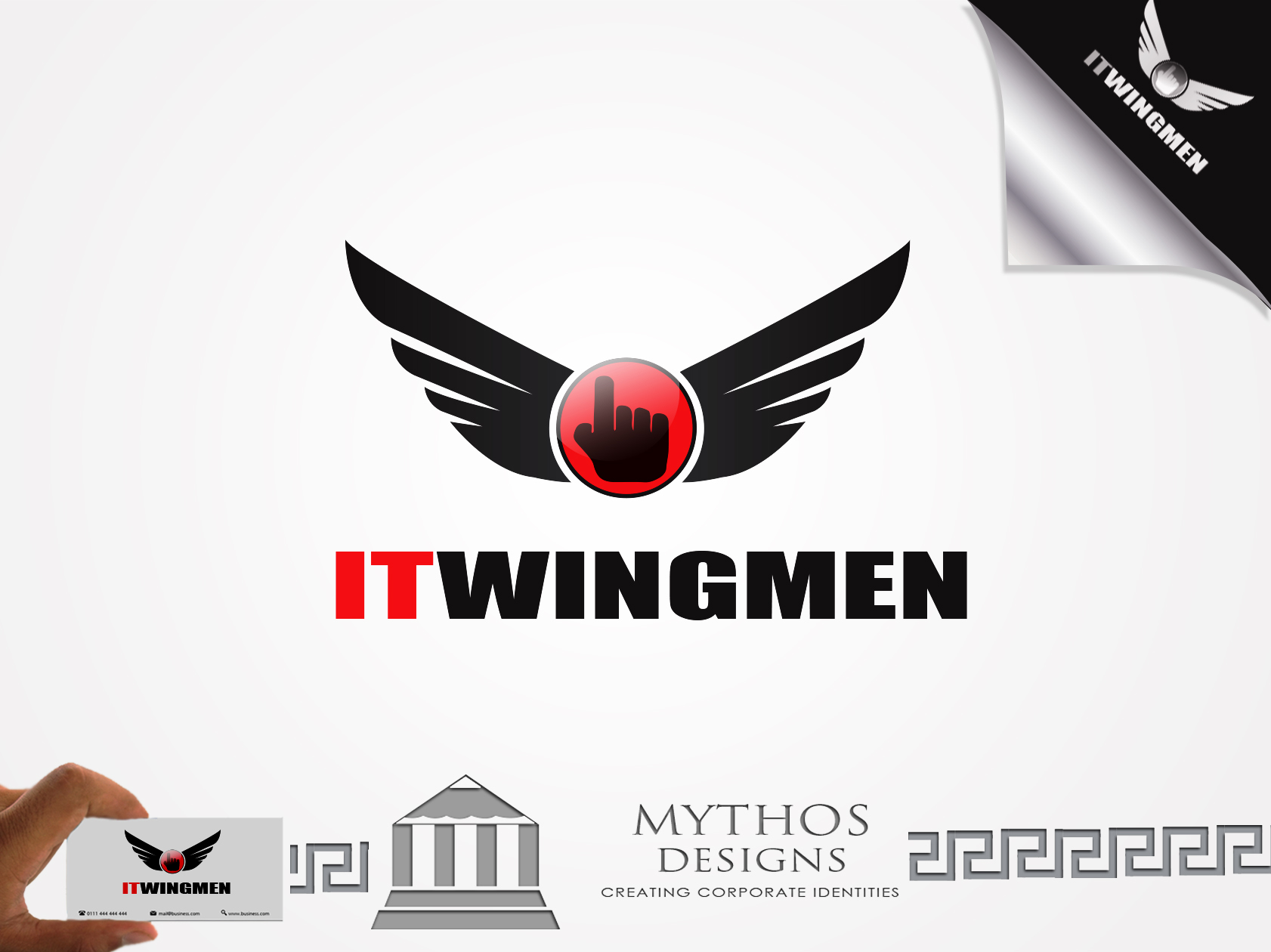 Logo Design by Mythos Designs - Entry No. 68 in the Logo Design Contest New Logo Design for IT Wingmen.