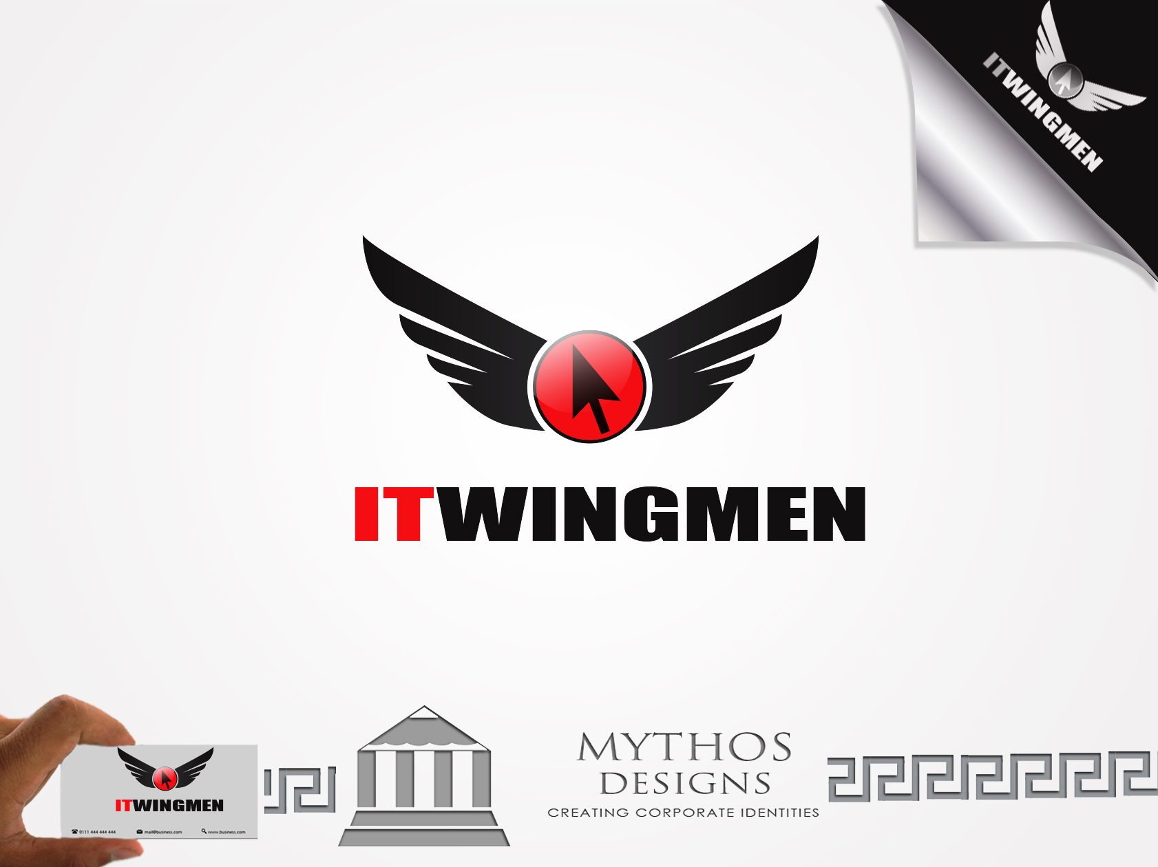Logo Design by Mythos Designs - Entry No. 69 in the Logo Design Contest New Logo Design for IT Wingmen.
