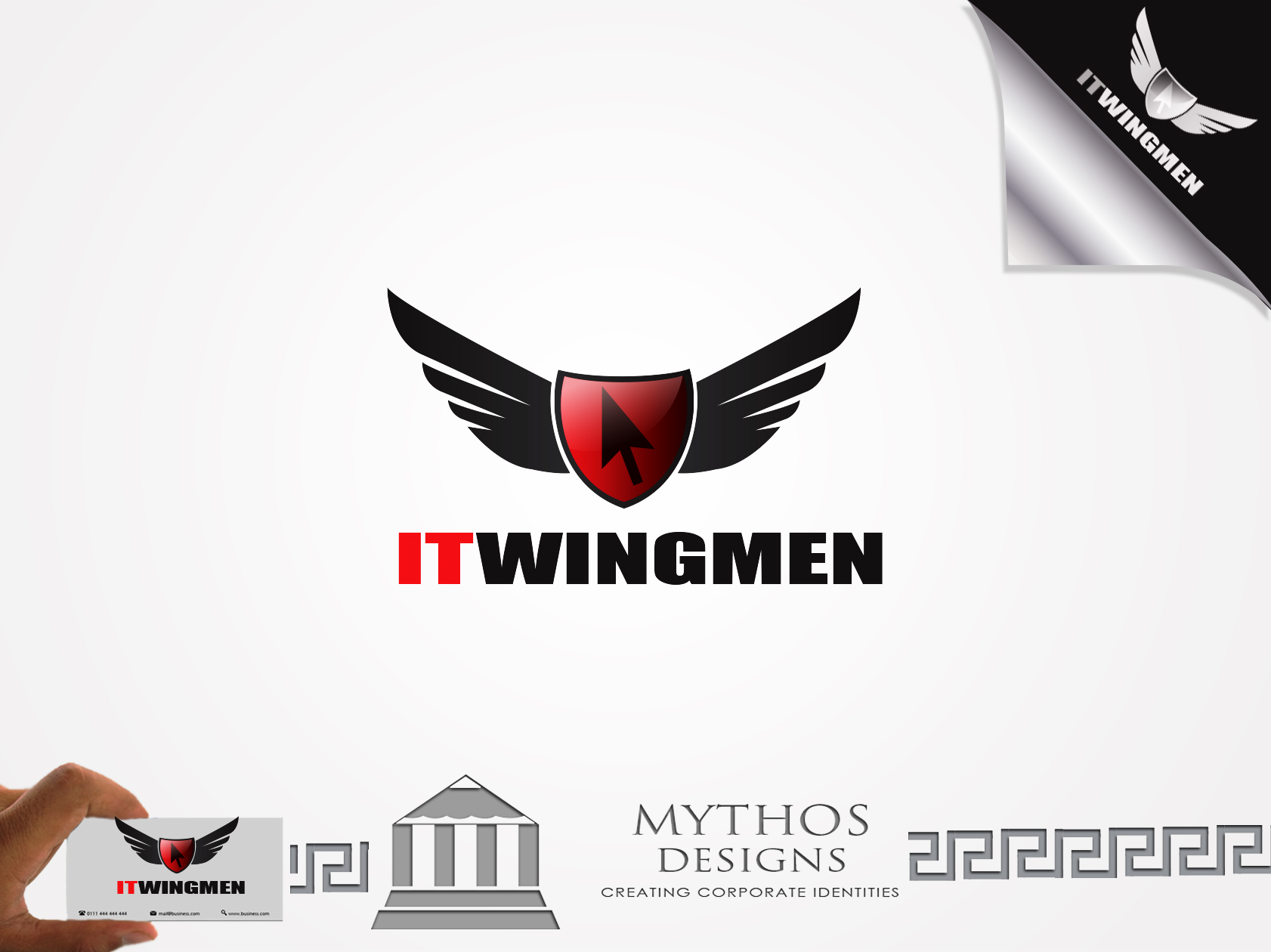 Logo Design by Mythos Designs - Entry No. 70 in the Logo Design Contest New Logo Design for IT Wingmen.