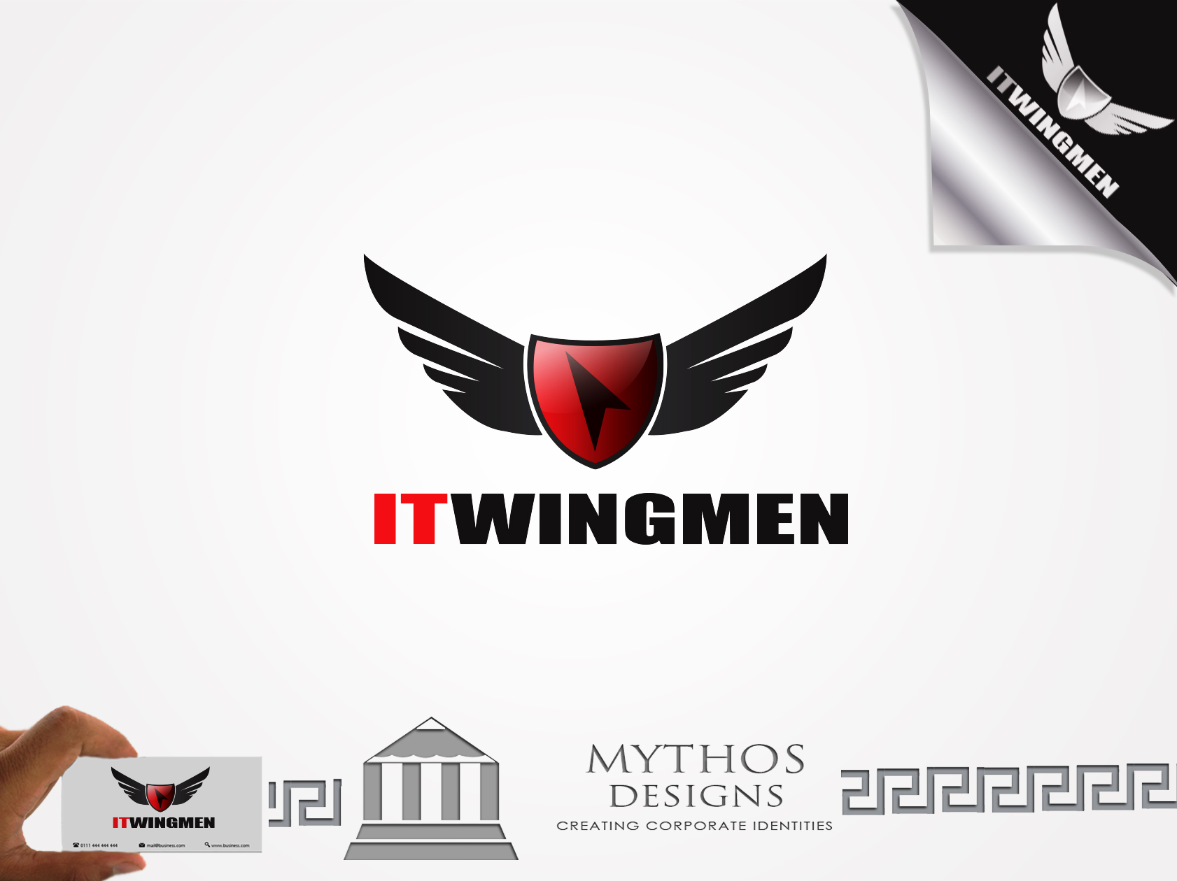 Logo Design by Mythos Designs - Entry No. 71 in the Logo Design Contest New Logo Design for IT Wingmen.