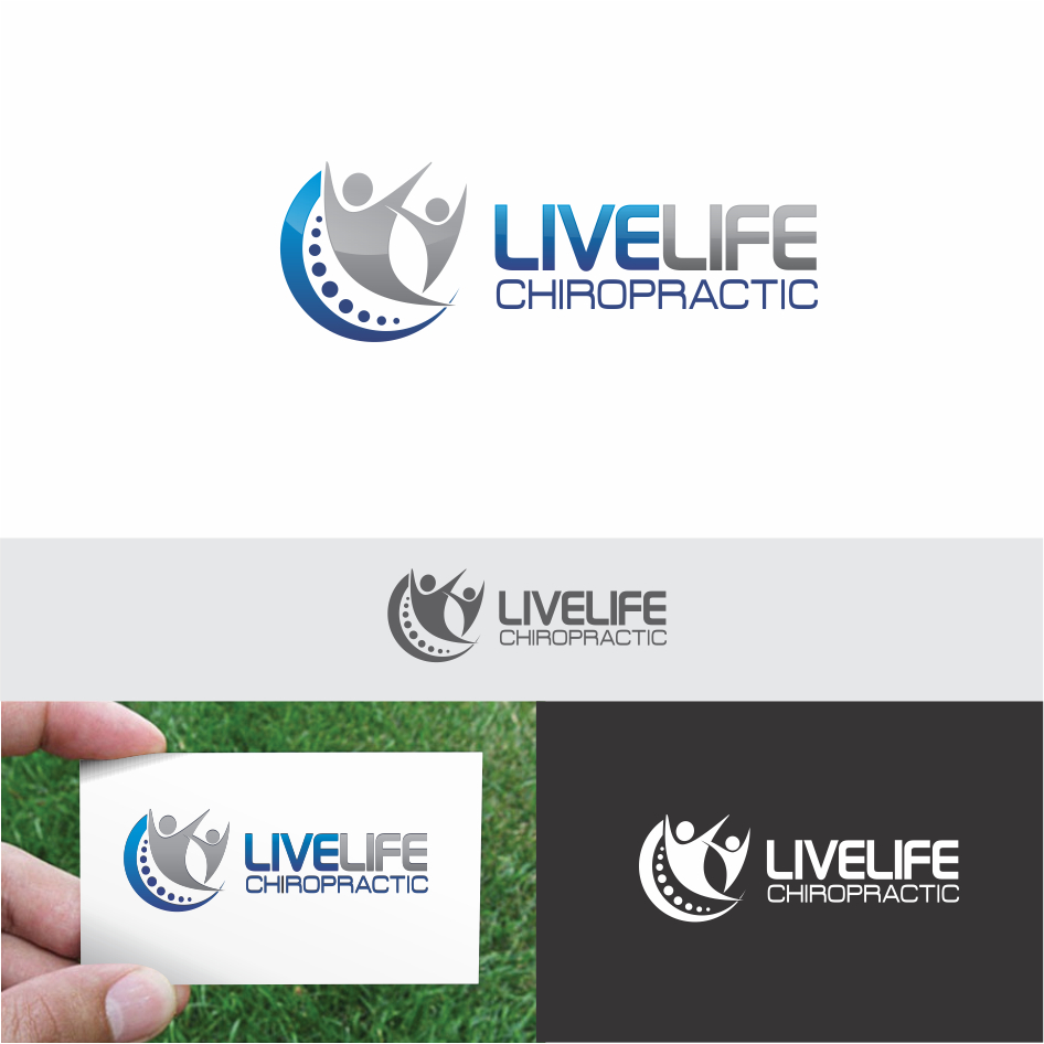 Logo Design by DENOK - Entry No. 32 in the Logo Design Contest Captivating Logo Design for LiveLife Chiropractic.