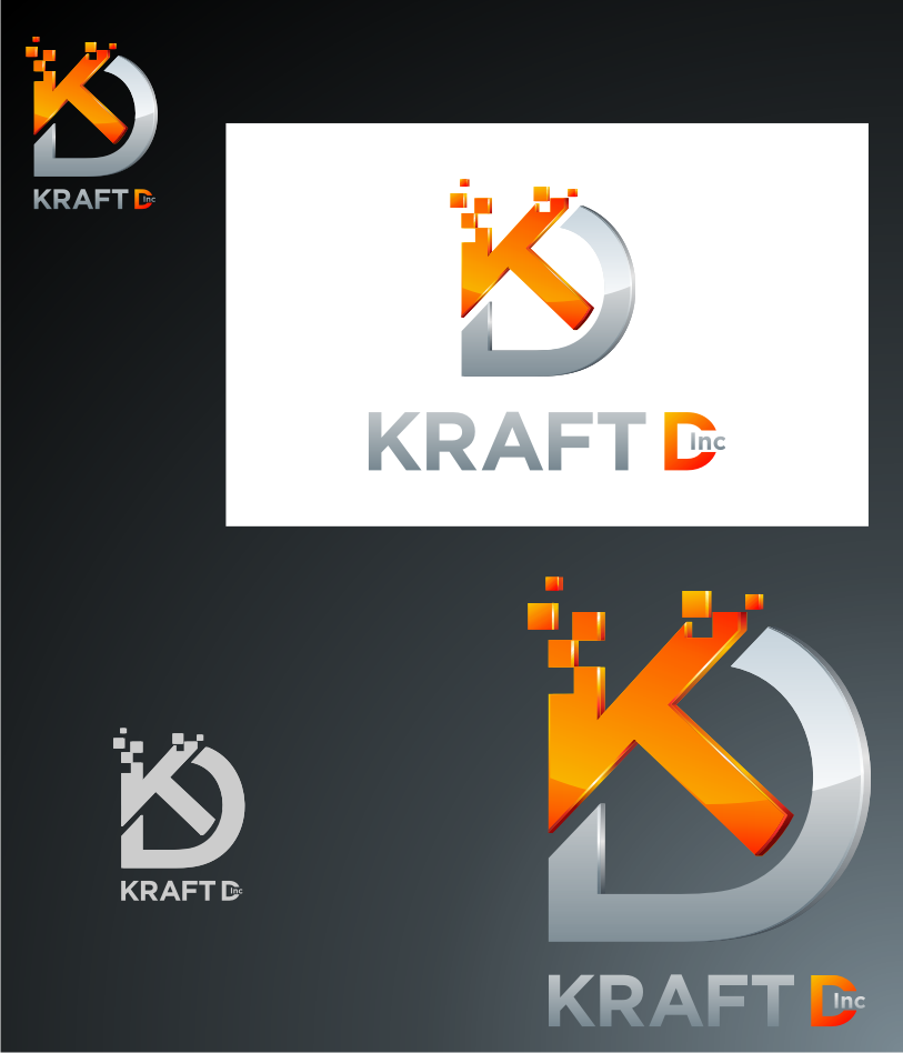 Logo Design by Muhammad Nasrul chasib - Entry No. 504 in the Logo Design Contest Unique Logo Design Wanted for Kraft D Inc.