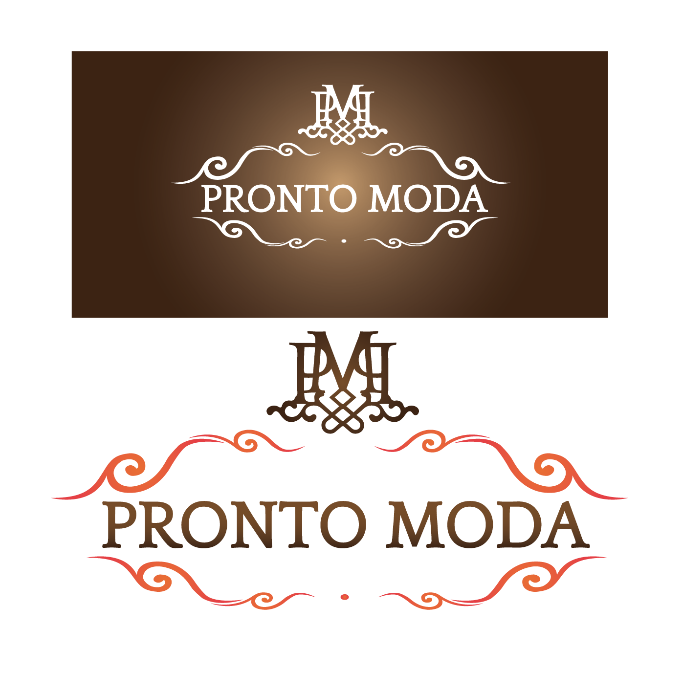 Logo Design by 354studio - Entry No. 74 in the Logo Design Contest Captivating Logo Design for Pronto moda.