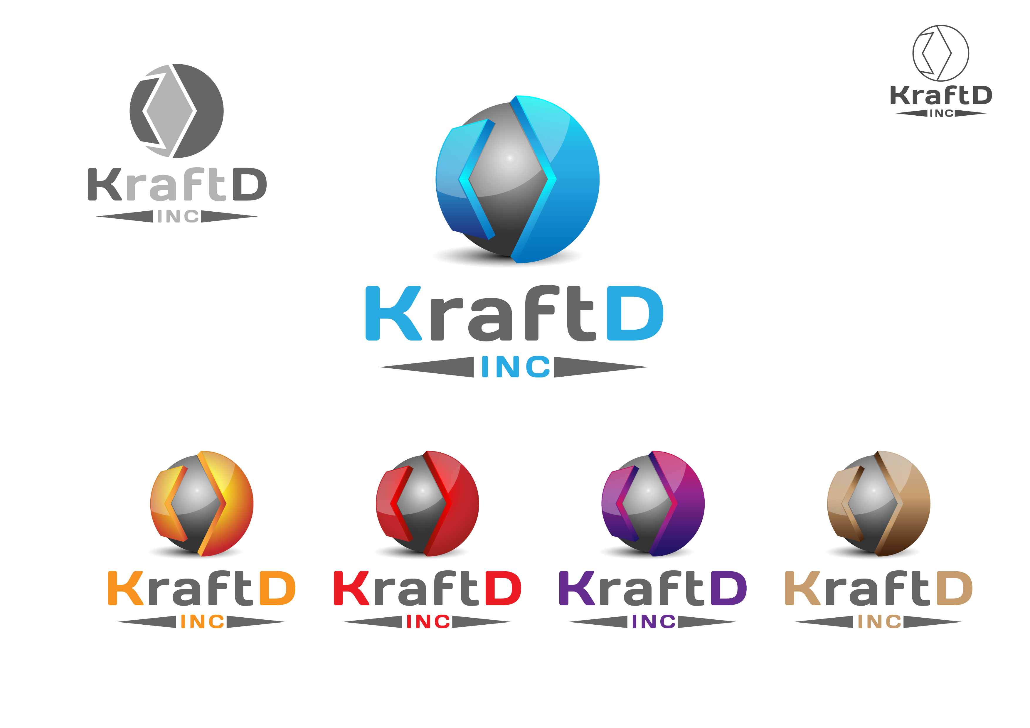 Logo Design by 3draw - Entry No. 512 in the Logo Design Contest Unique Logo Design Wanted for Kraft D Inc.
