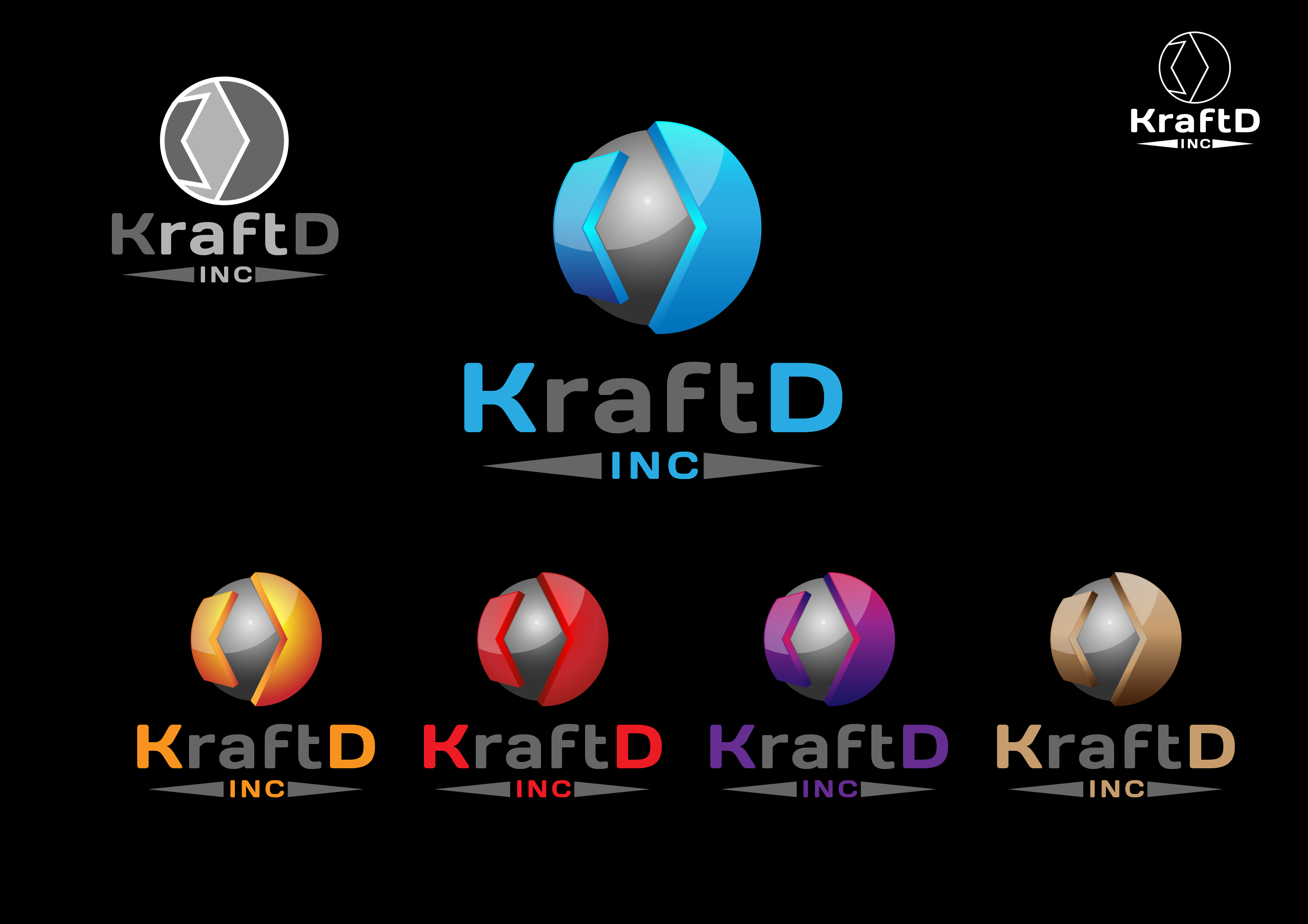 Logo Design by 3draw - Entry No. 513 in the Logo Design Contest Unique Logo Design Wanted for Kraft D Inc.
