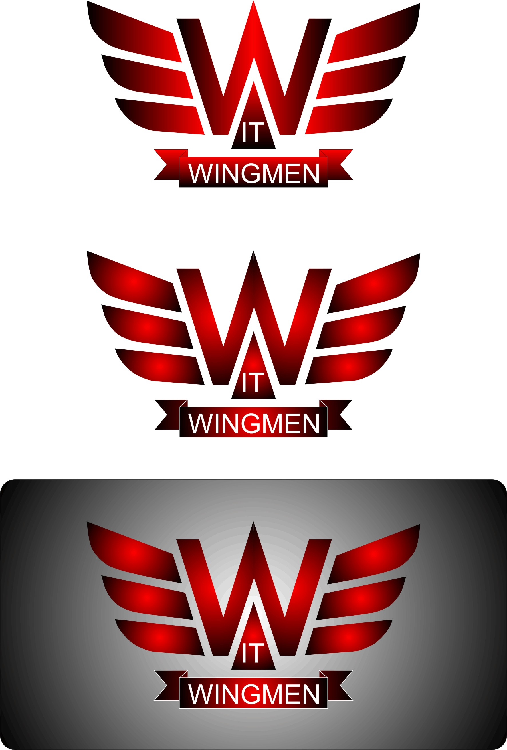 Logo Design by Korsunov Oleg - Entry No. 74 in the Logo Design Contest New Logo Design for IT Wingmen.