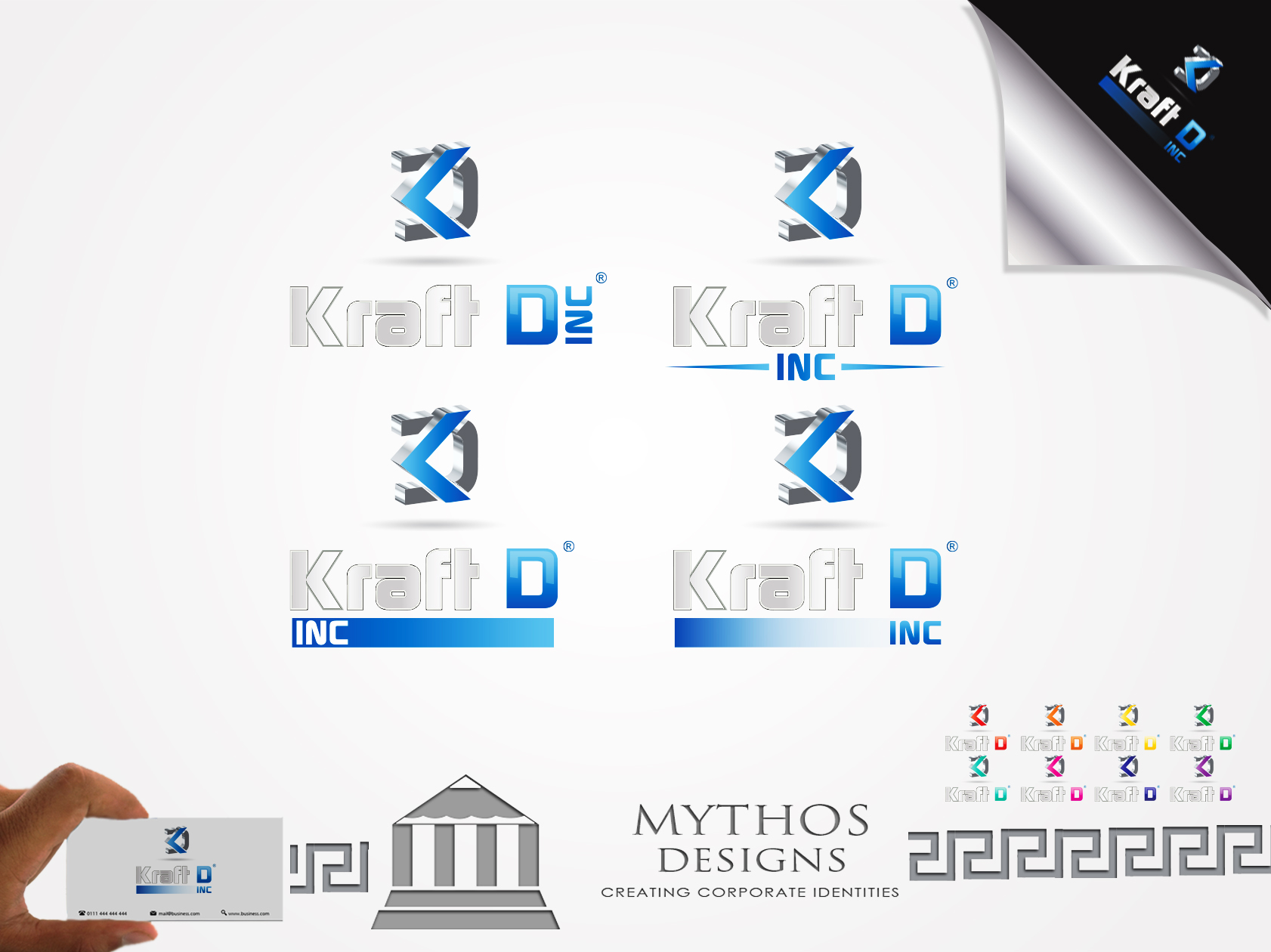 Logo Design by Mythos Designs - Entry No. 517 in the Logo Design Contest Unique Logo Design Wanted for Kraft D Inc.