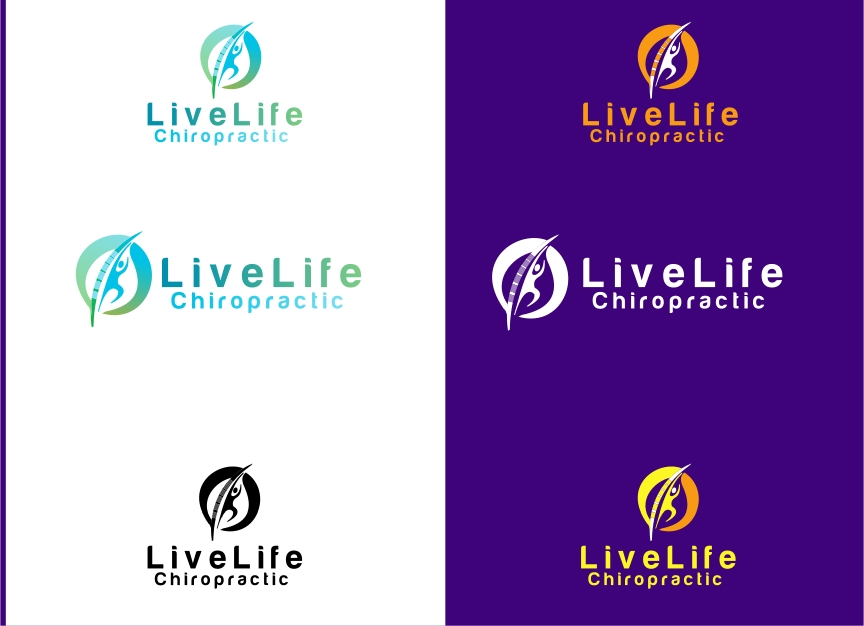 Logo Design by Private User - Entry No. 35 in the Logo Design Contest Captivating Logo Design for LiveLife Chiropractic.