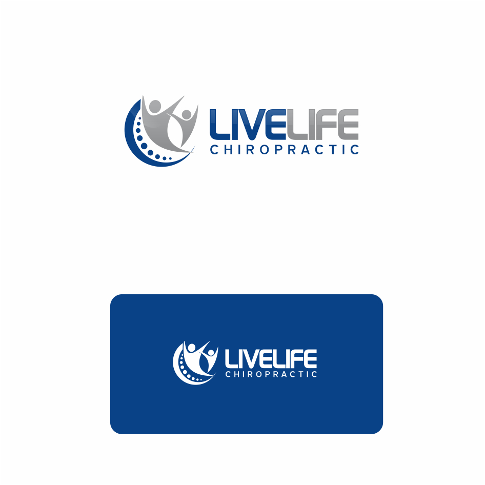Logo Design by DENOK - Entry No. 36 in the Logo Design Contest Captivating Logo Design for LiveLife Chiropractic.