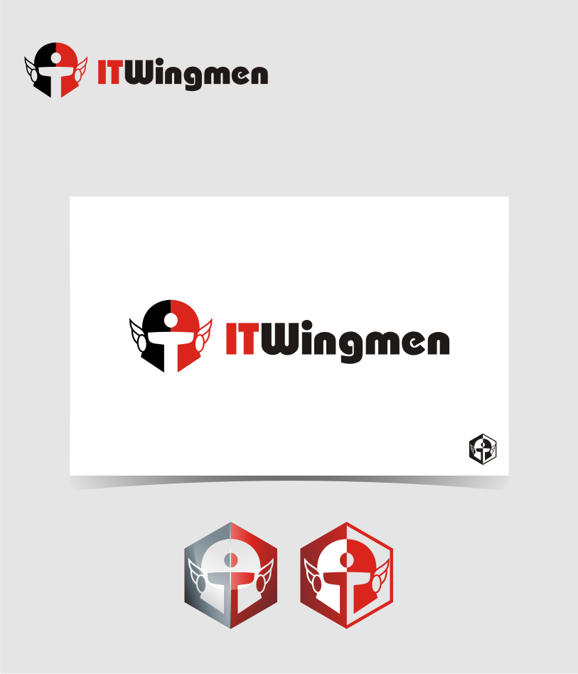 Logo Design by graphicleaf - Entry No. 78 in the Logo Design Contest New Logo Design for IT Wingmen.