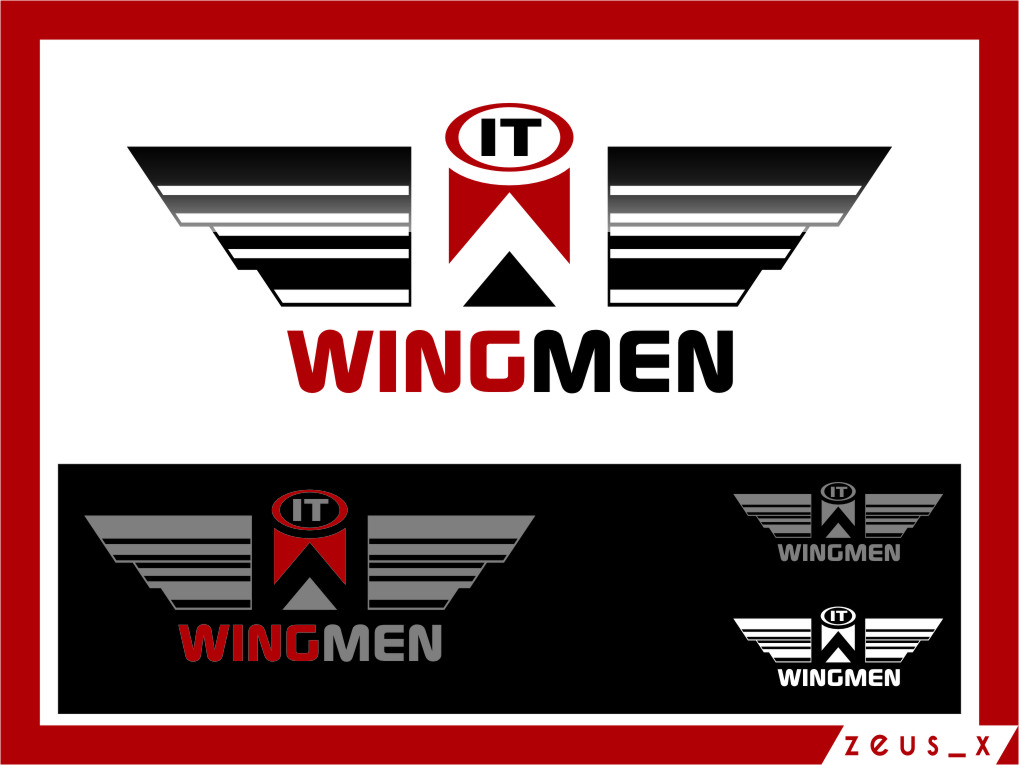 Logo Design by RasYa Muhammad Athaya - Entry No. 80 in the Logo Design Contest New Logo Design for IT Wingmen.
