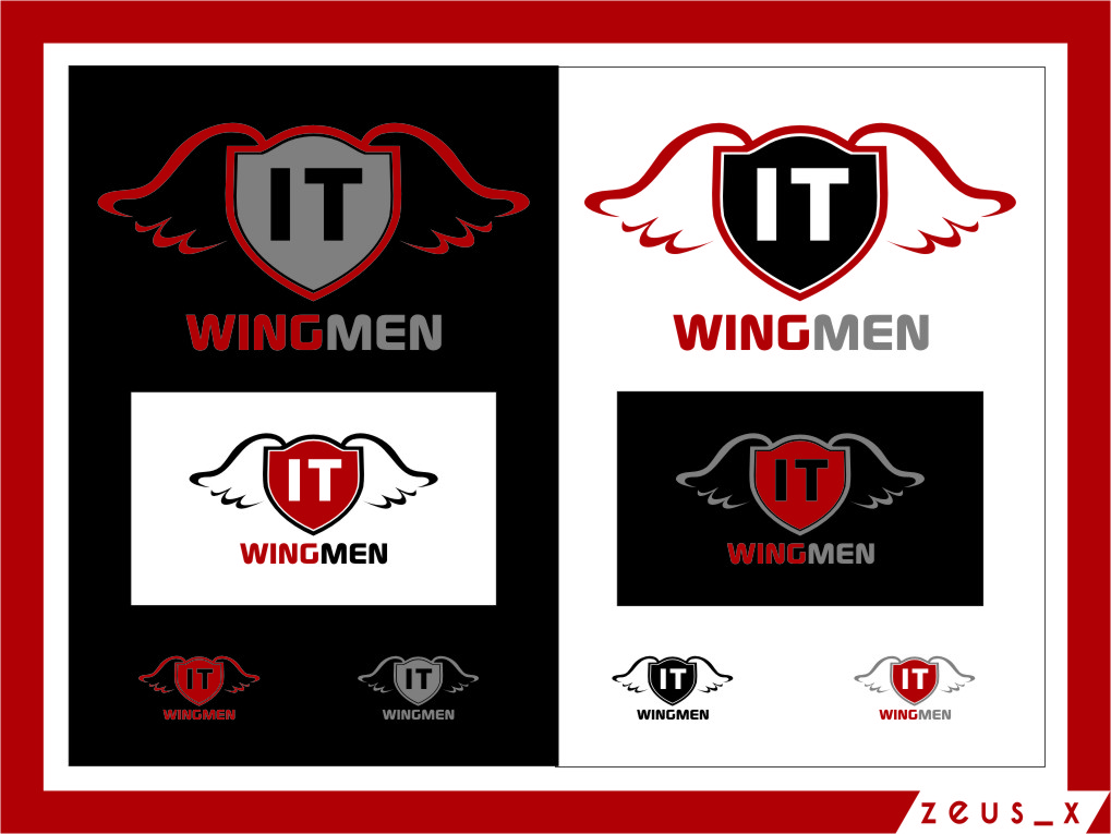 Logo Design by RoSyid Rono-Rene On Java - Entry No. 83 in the Logo Design Contest New Logo Design for IT Wingmen.