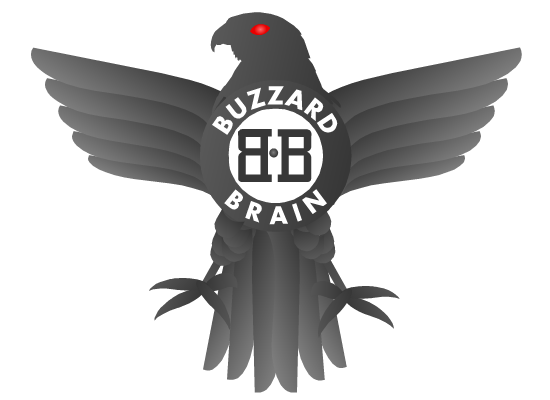 Logo Design by Ismail Adhi Wibowo - Entry No. 4 in the Logo Design Contest Buzzard Brain Logo Design.