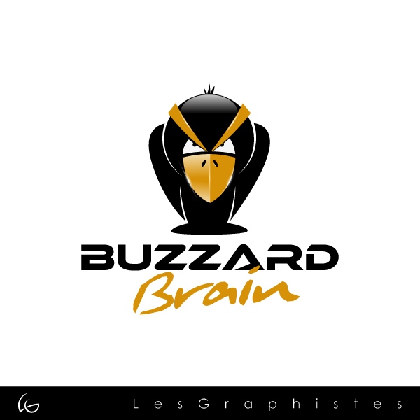 Logo Design by Les-Graphistes - Entry No. 7 in the Logo Design Contest Buzzard Brain Logo Design.